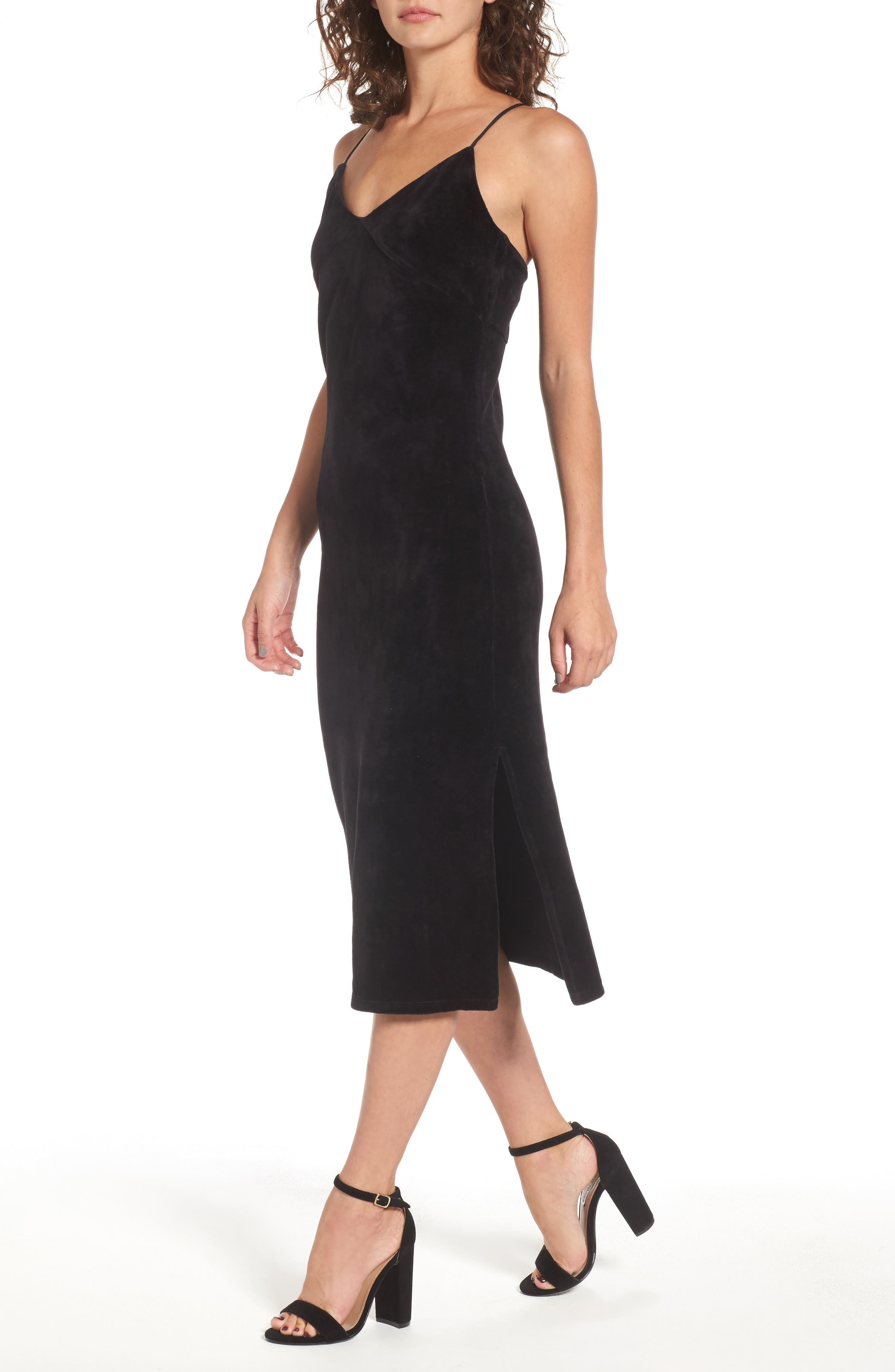 Alternate Image 4  - Juicy Couture Stretch Velour Slipdress