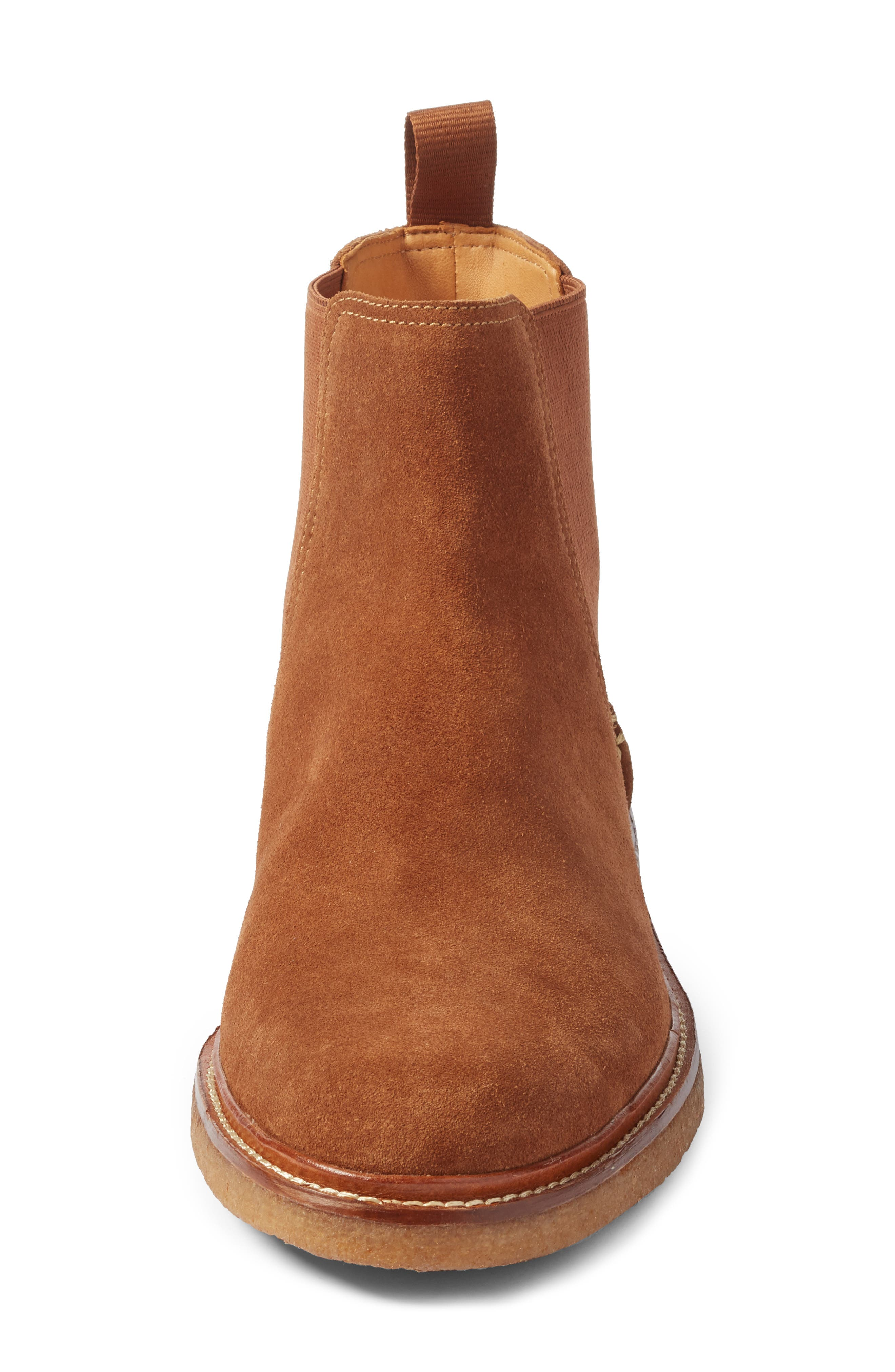 Leather Chelsea Boot,                             Alternate thumbnail 4, color,                             Dark Snuff Leather