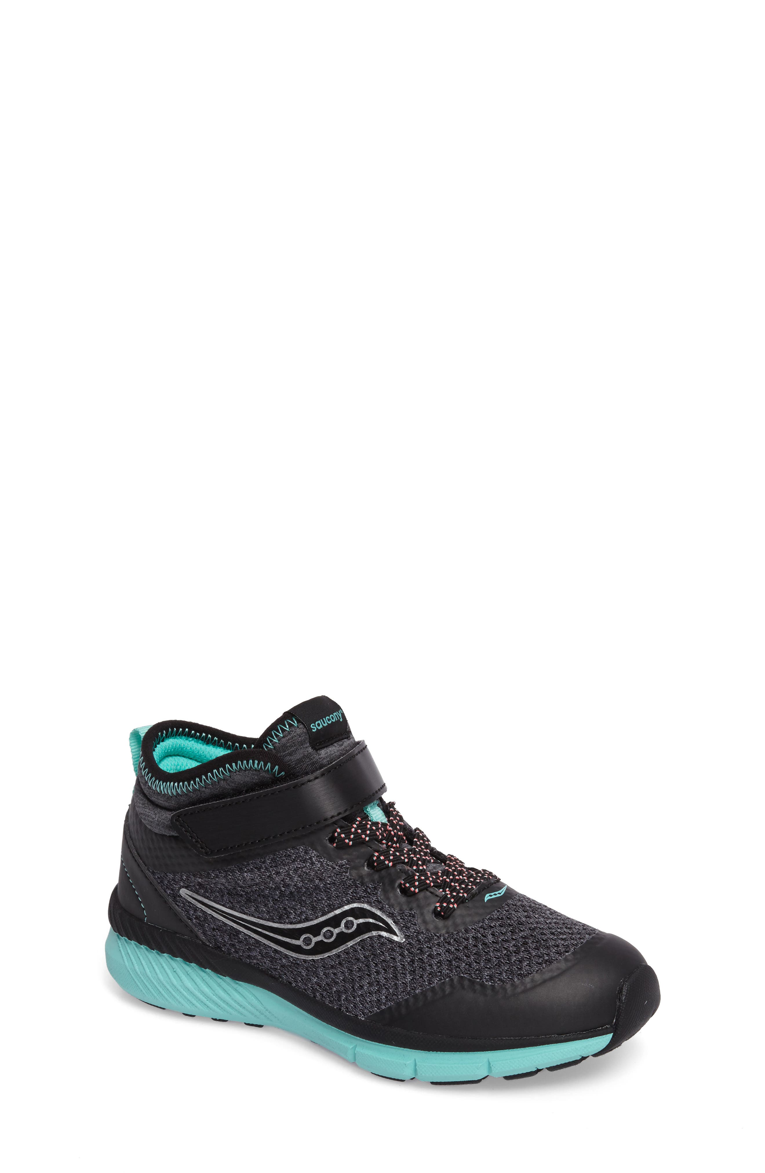 Ideal Sneaker,                         Main,                         color, Black/ Turquoise