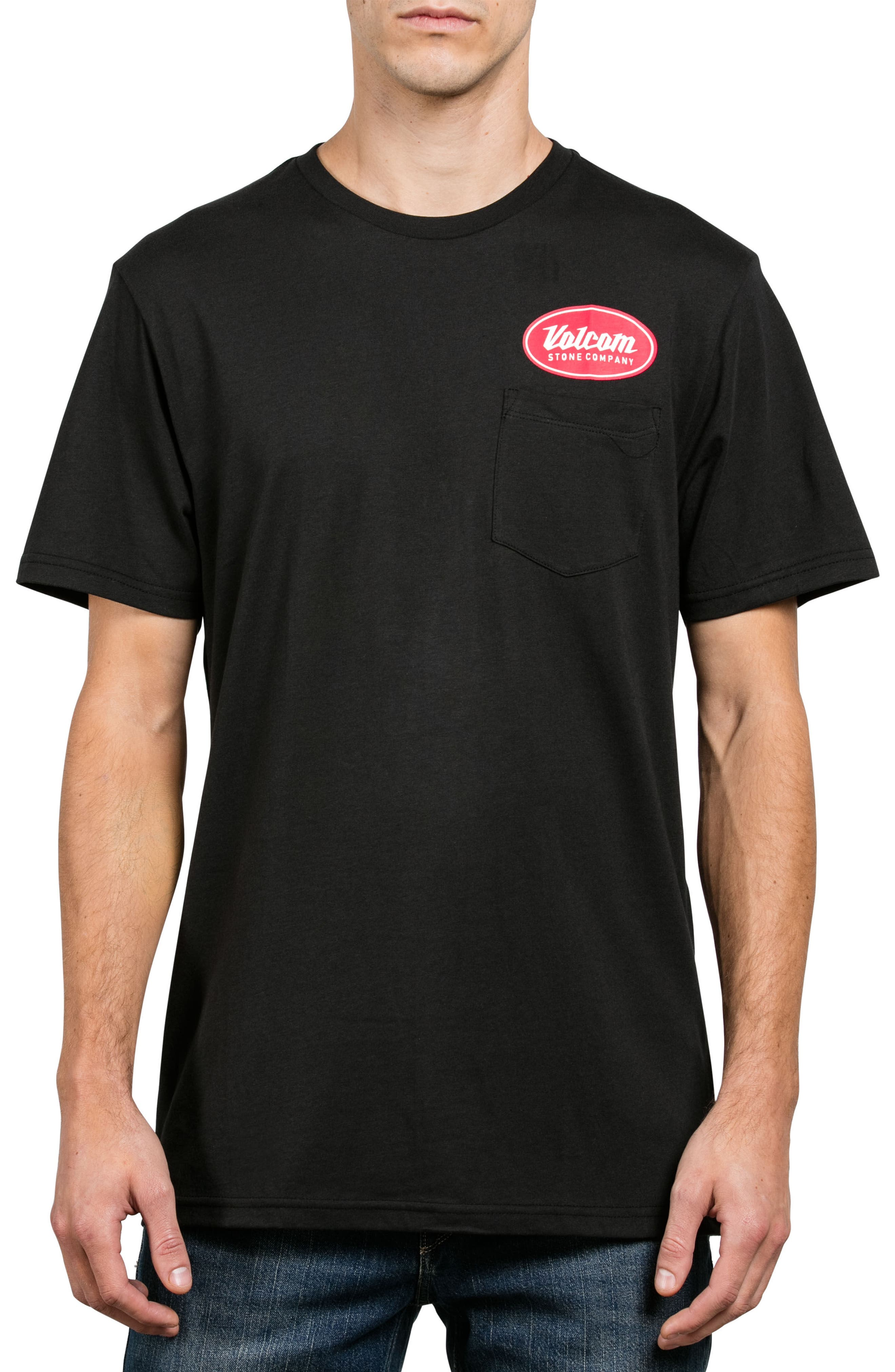 Alternate Image 1 Selected - Volcom Foundry Logo Graphic Pocket T-Shirt