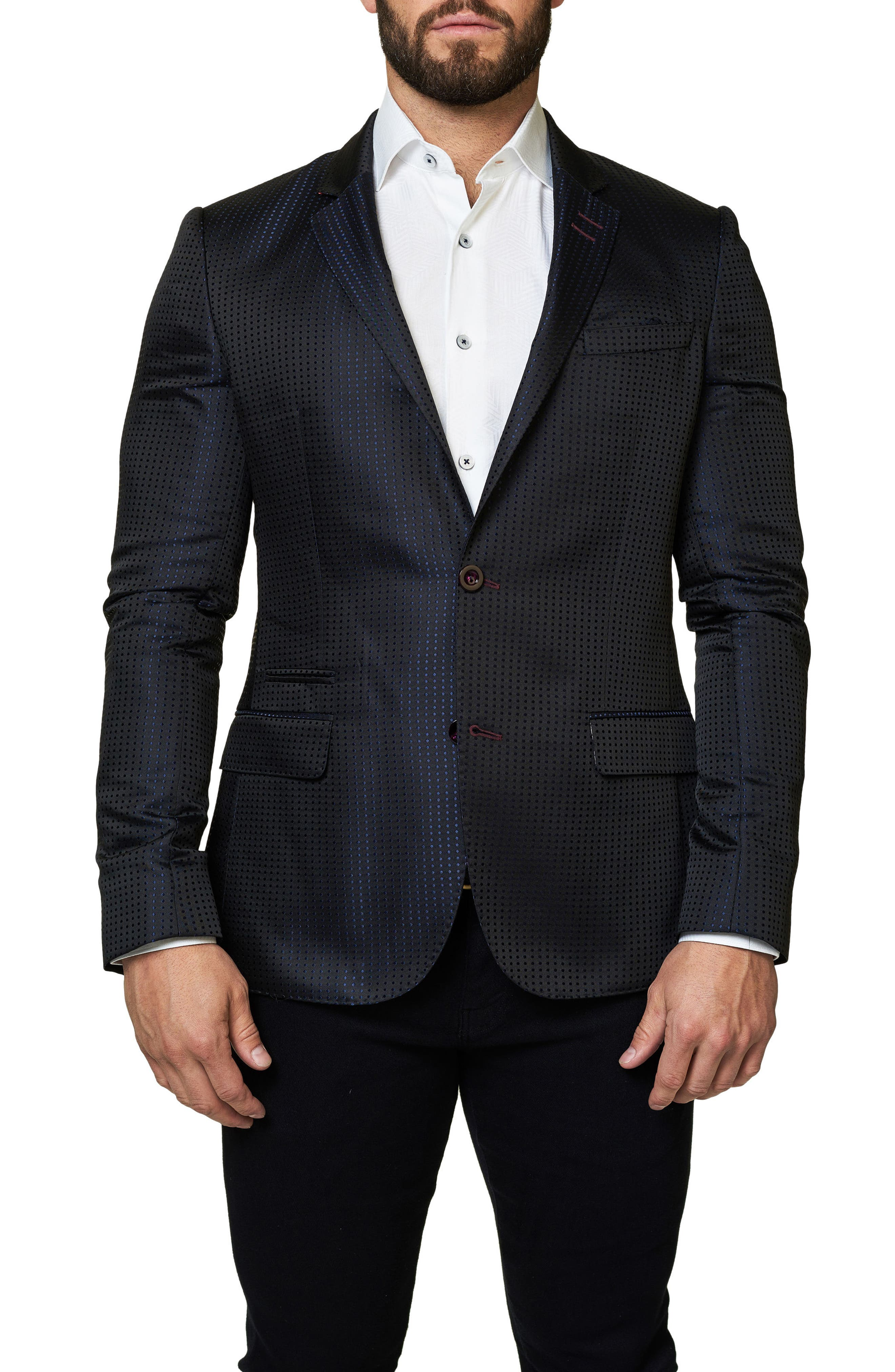 Main Image - Maceoo Socrate Dot Sport Coat
