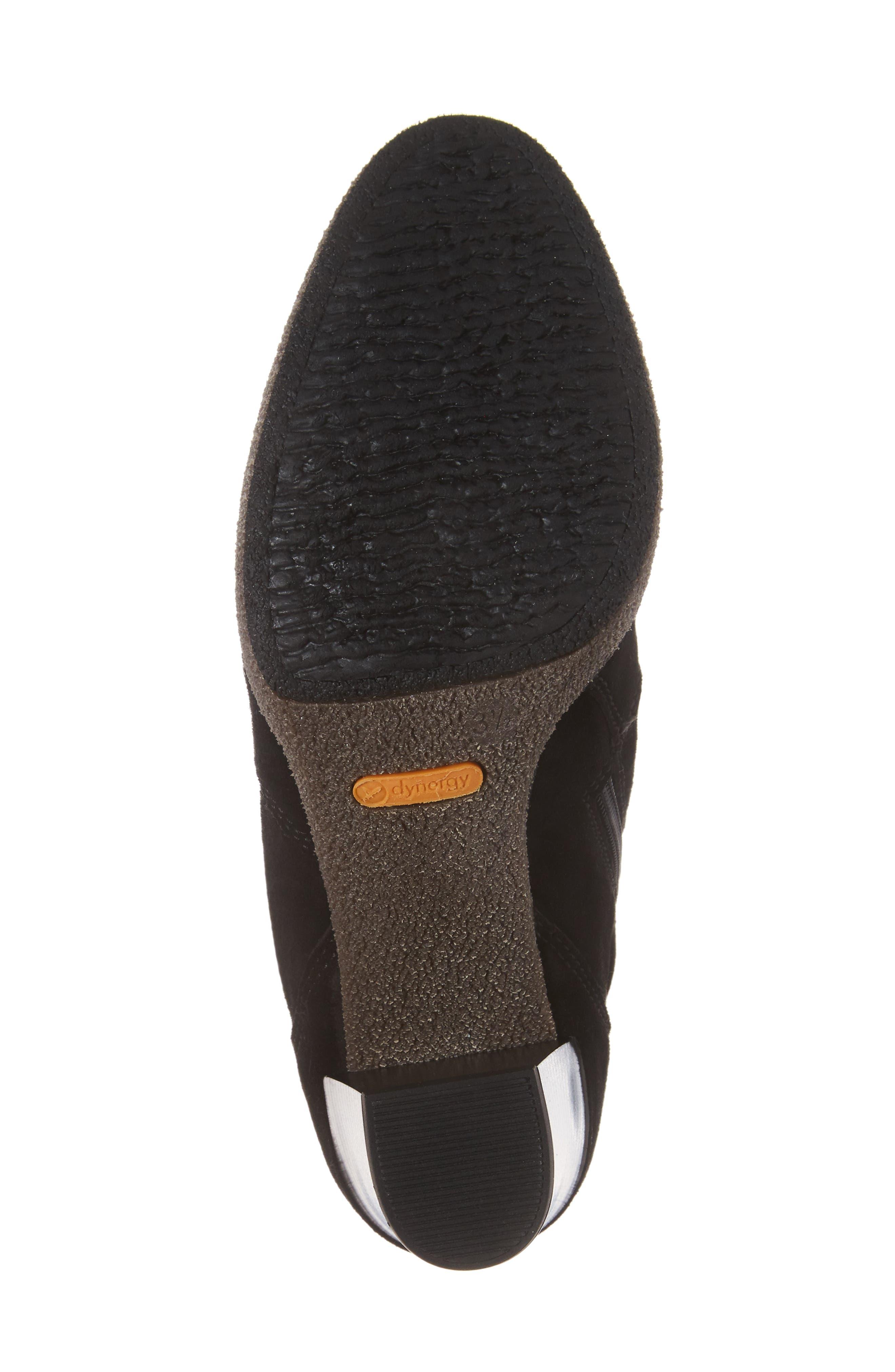 Bristol Bootie,                             Alternate thumbnail 6, color,                             Black Leather