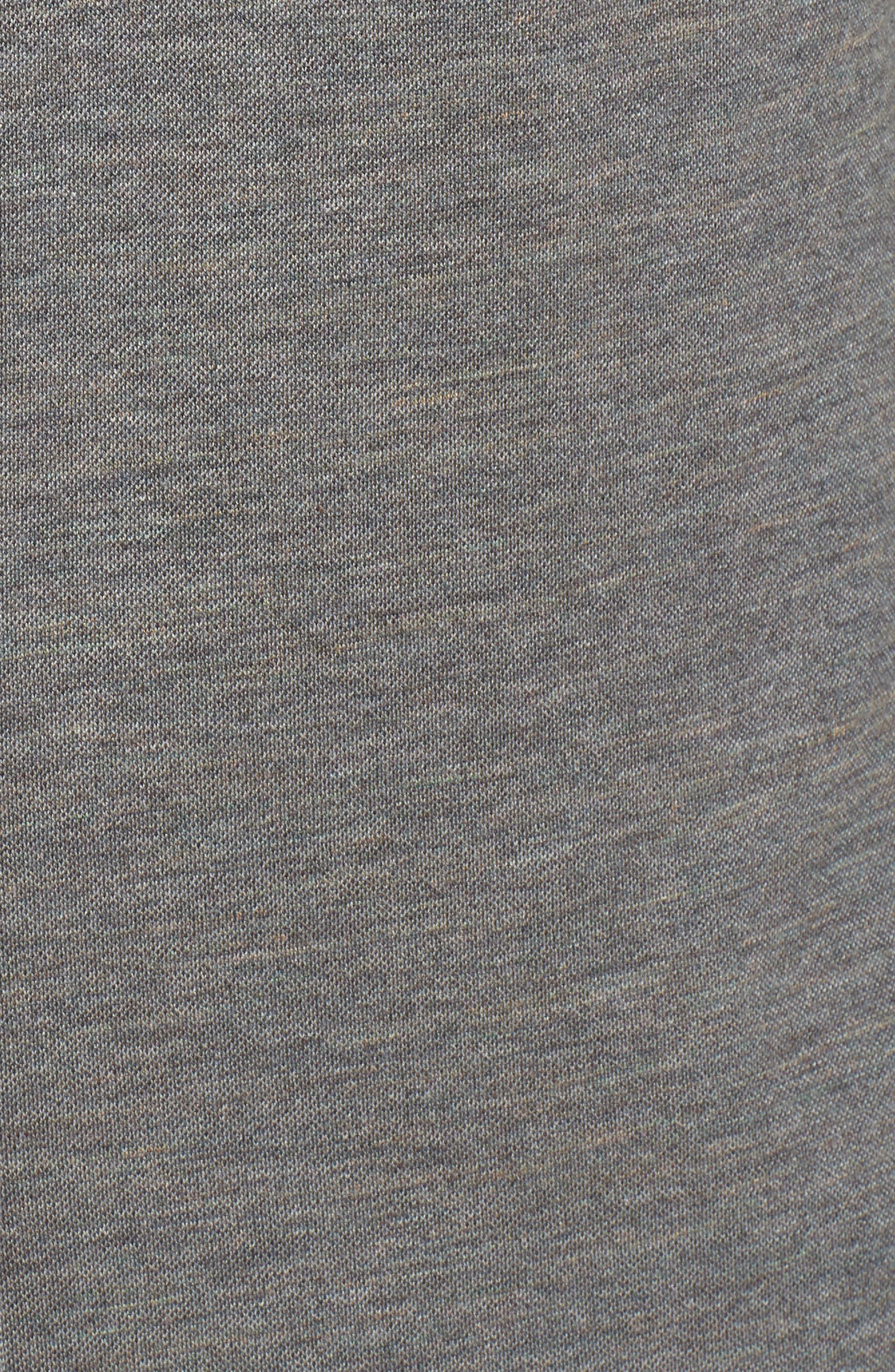 Regular Fit Piqué Knit Sport Shirt,                             Alternate thumbnail 5, color,                             Graphite