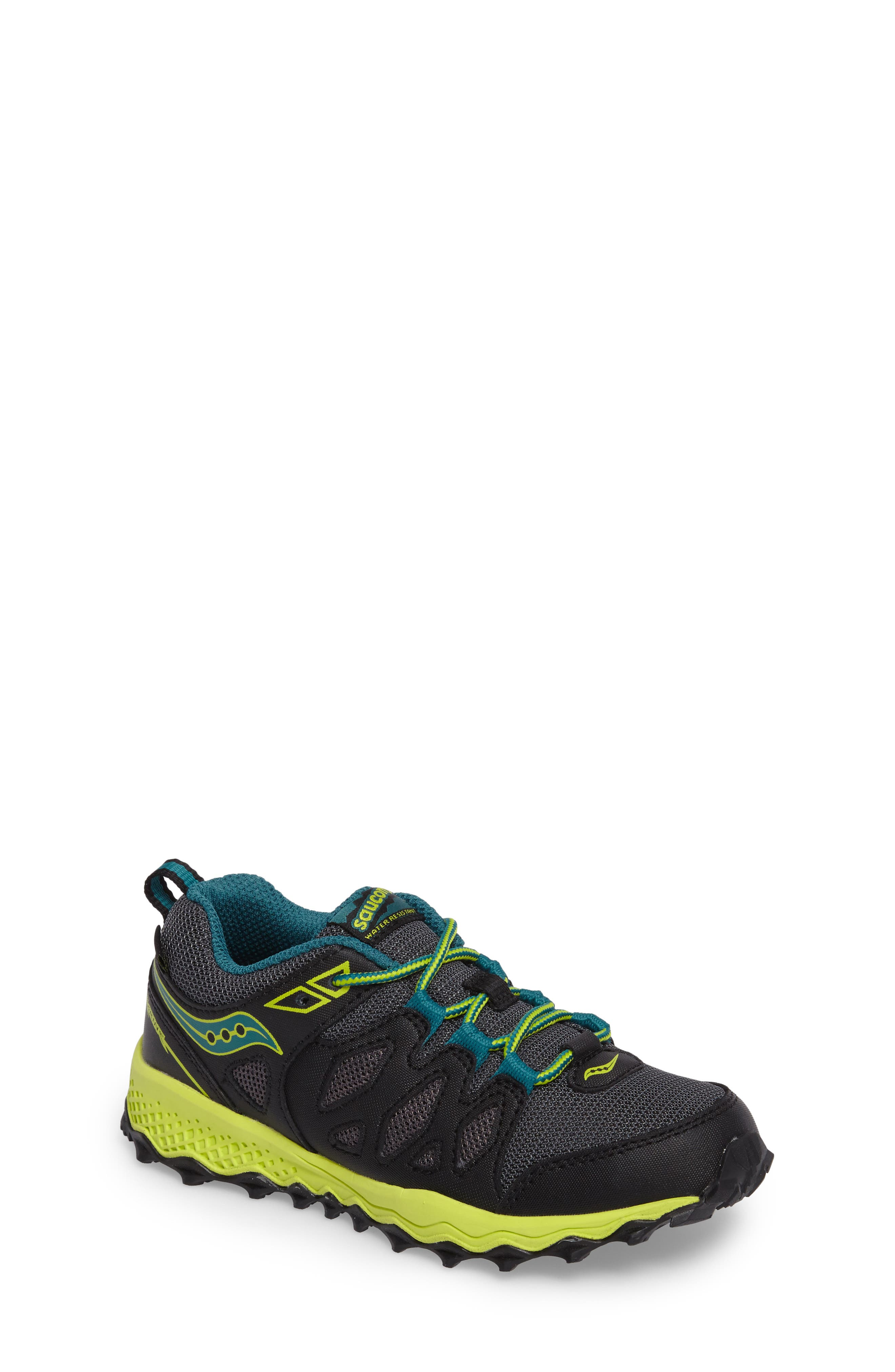 Peregrine Shield Water-Resistant Sneaker,                         Main,                         color, Black/ Lime/ Green