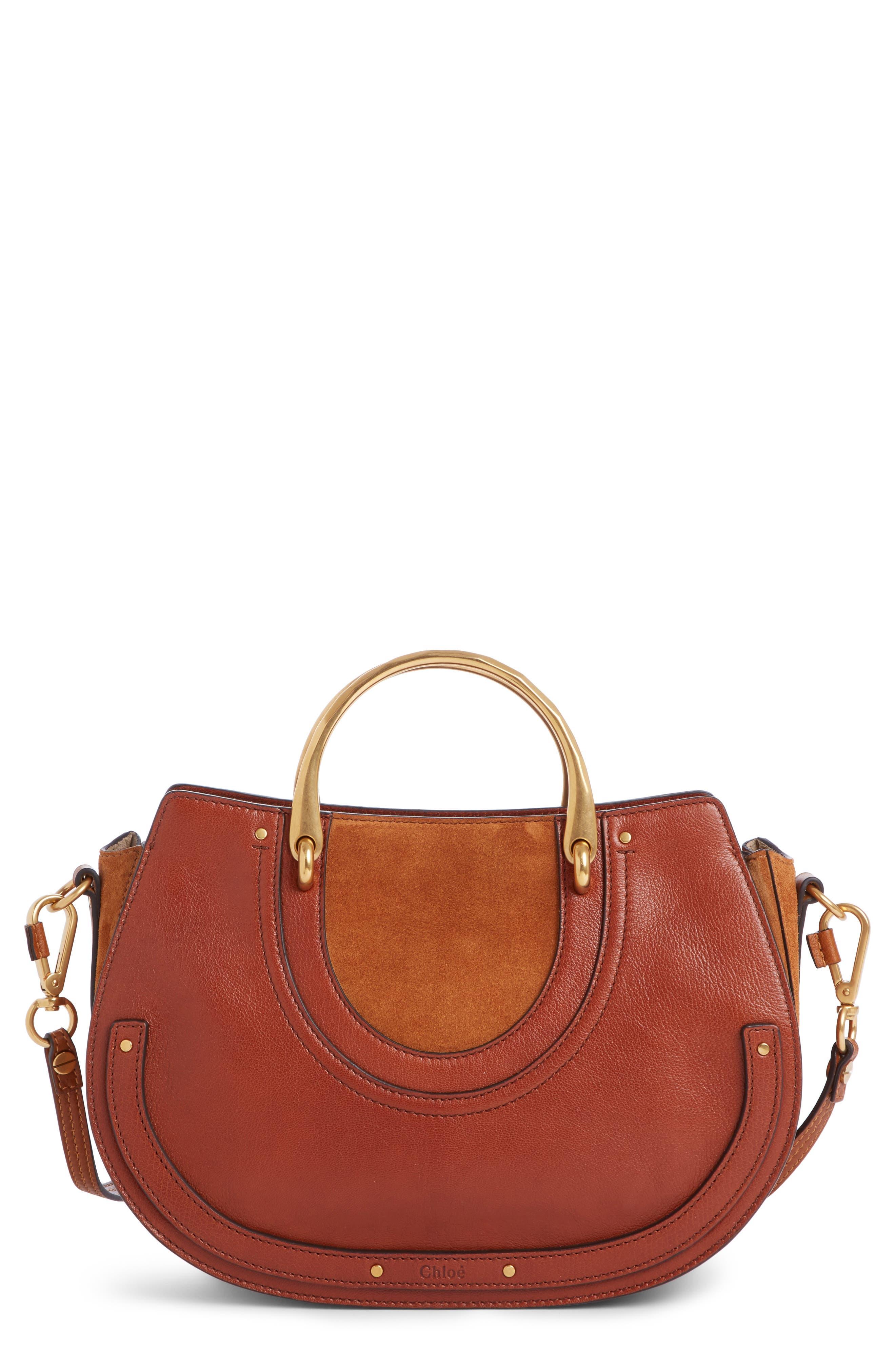 Main Image - Chloé Medium Pixie Top Handle Leather Satchel