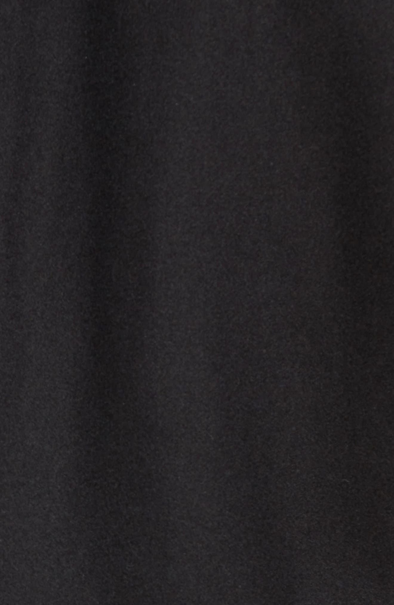 Concord Faux Shearling Aviator Jacket,                             Alternate thumbnail 5, color,                             Black