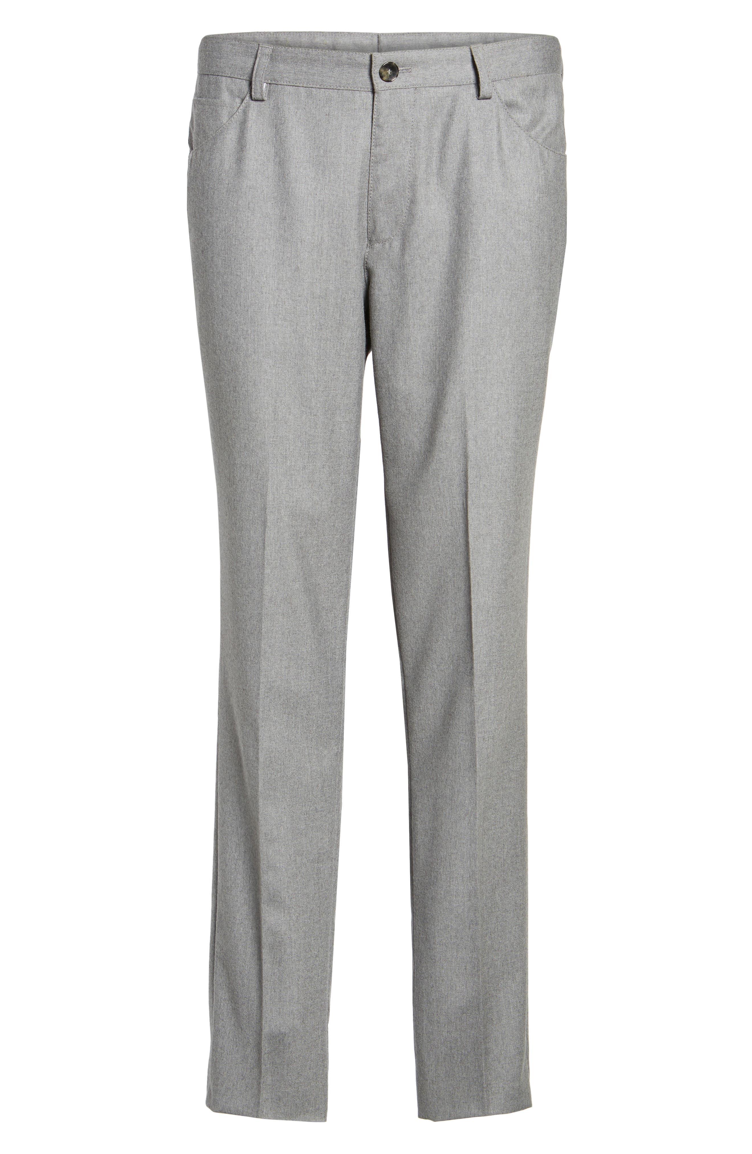 Alternate Image 6  - BOSS Gaetano Regular Fit Wool Trousers