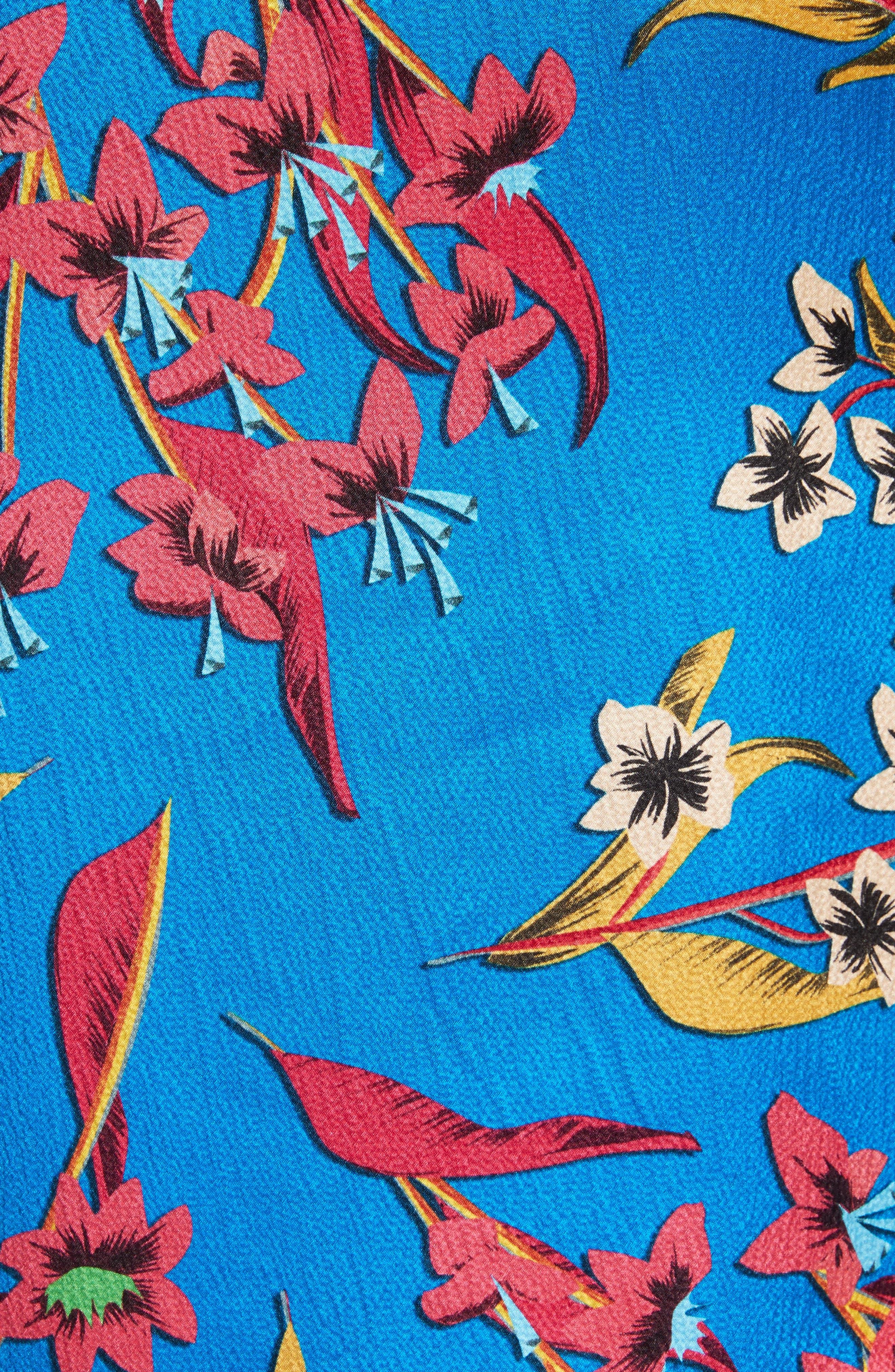 Alternate Image 4  - Etro Jungle Floral Print Silk Blouse