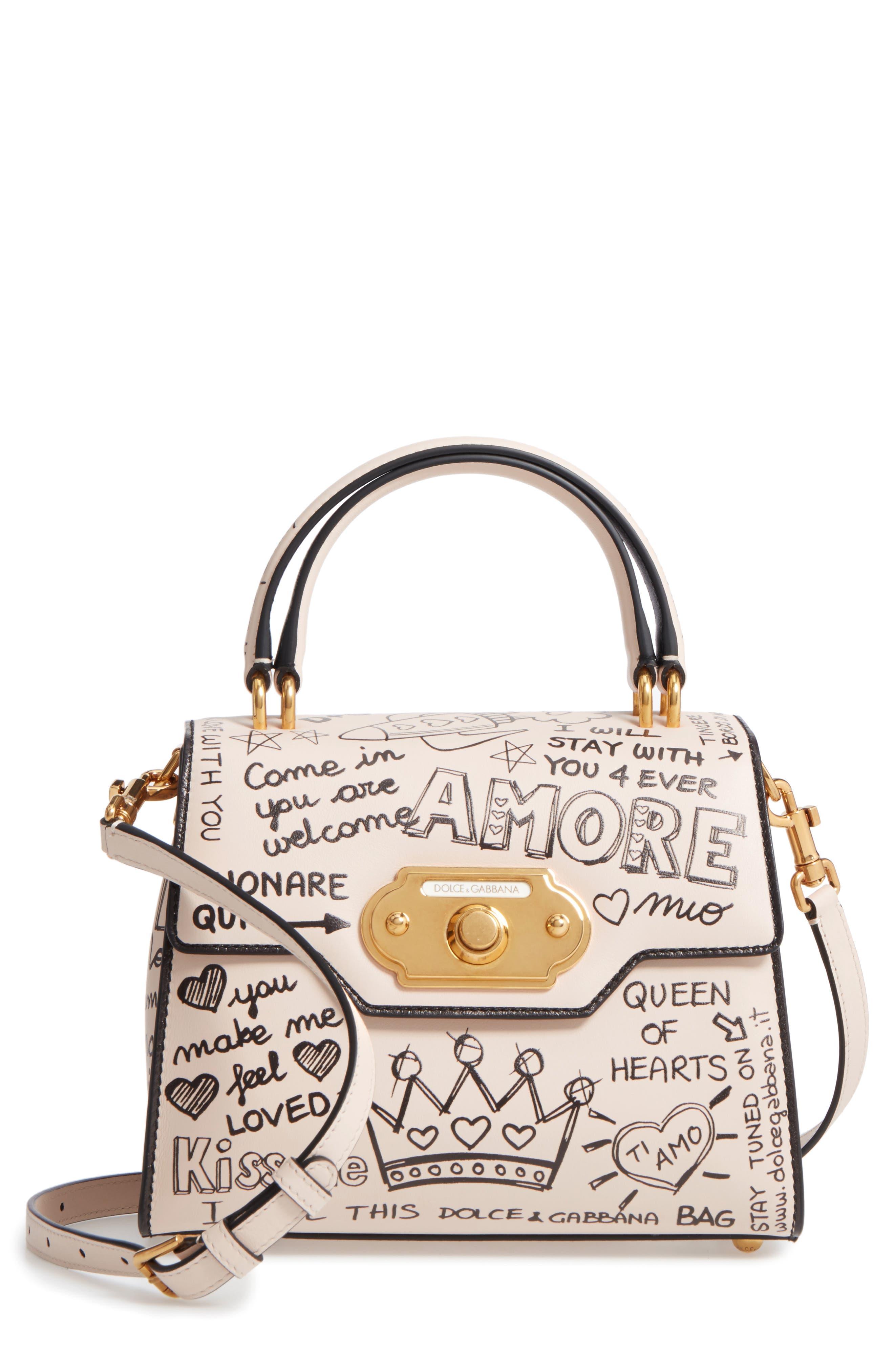 Alternate Image 7  - Dolce&Gabbana Medium Welcome Leather Satchel