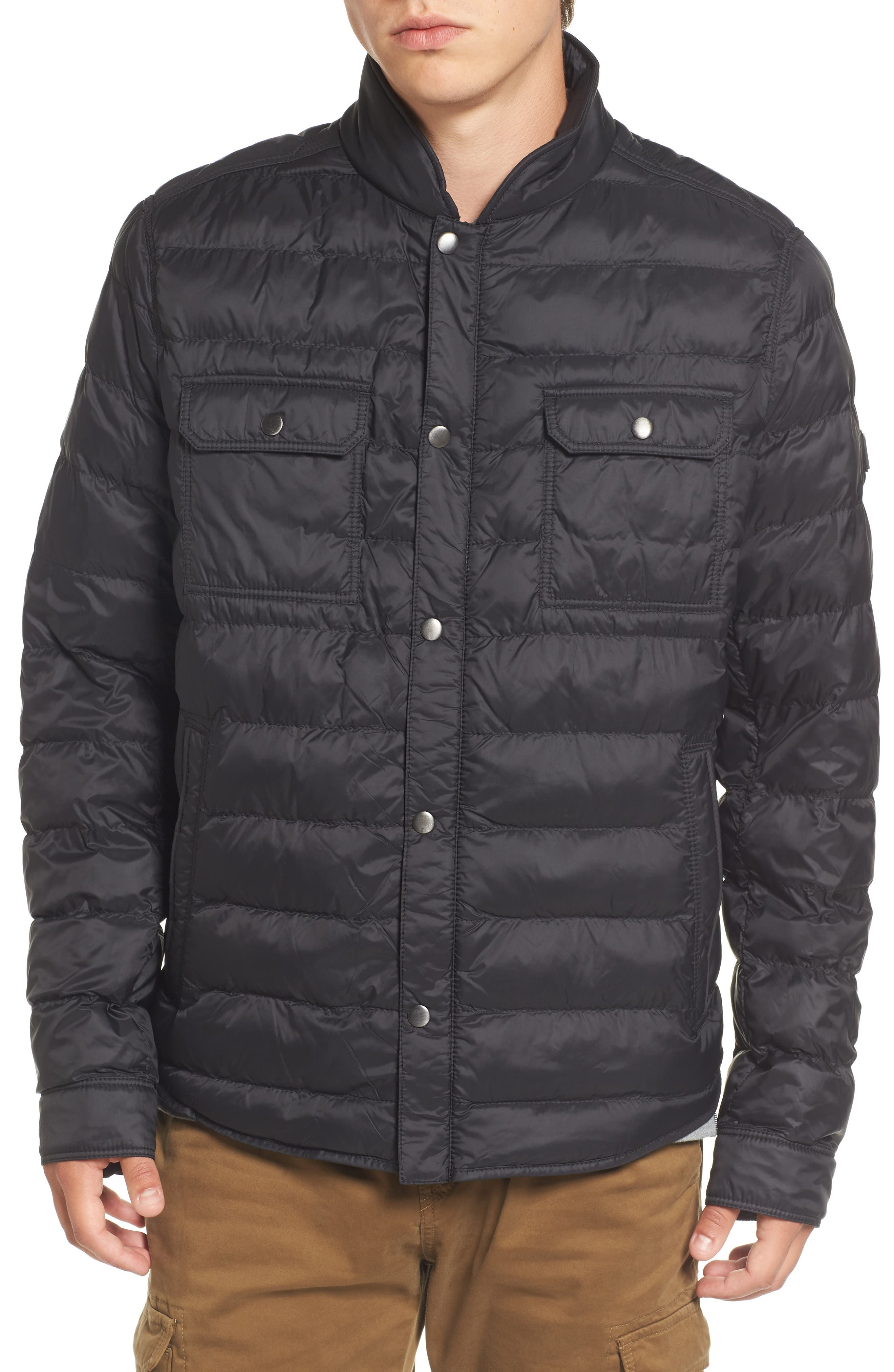 Orin Water Repellent Quilted Jacket,                             Alternate thumbnail 5, color,                             Black