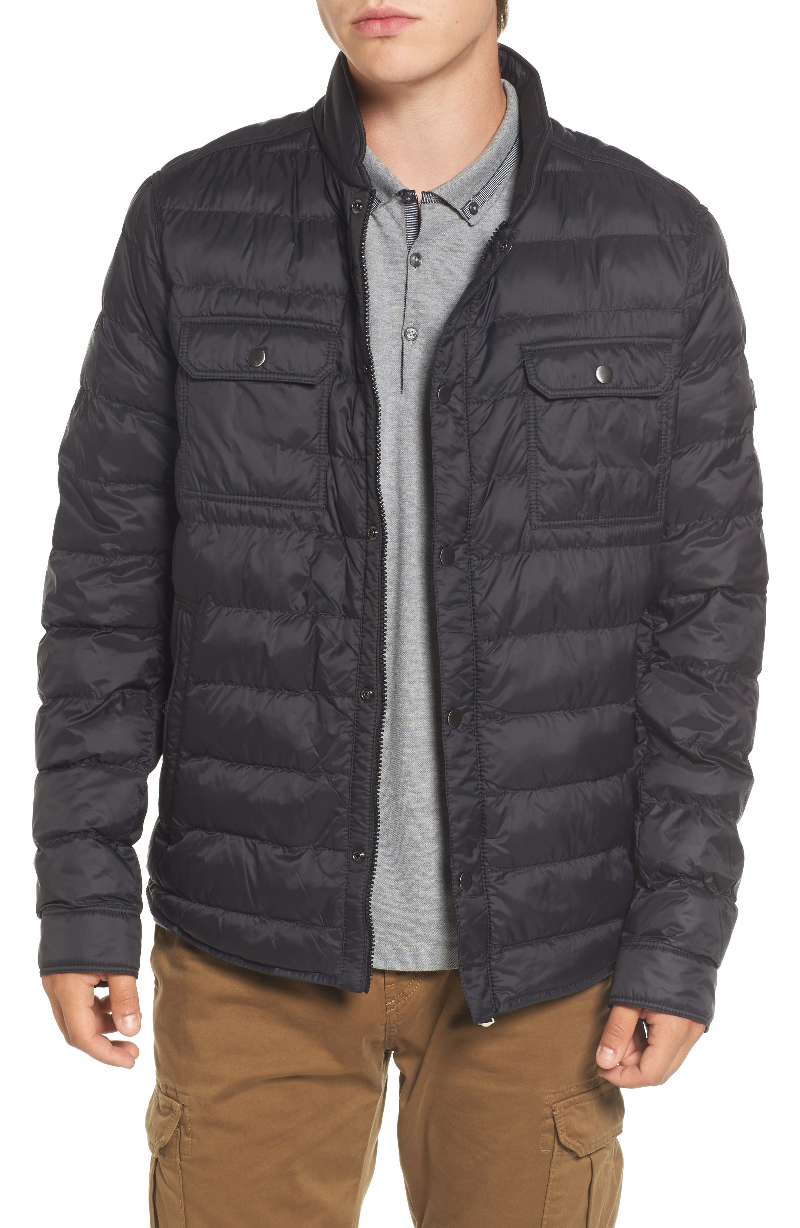 Orin Water Repellent Quilted Jacket,                             Main thumbnail 1, color,                             Black