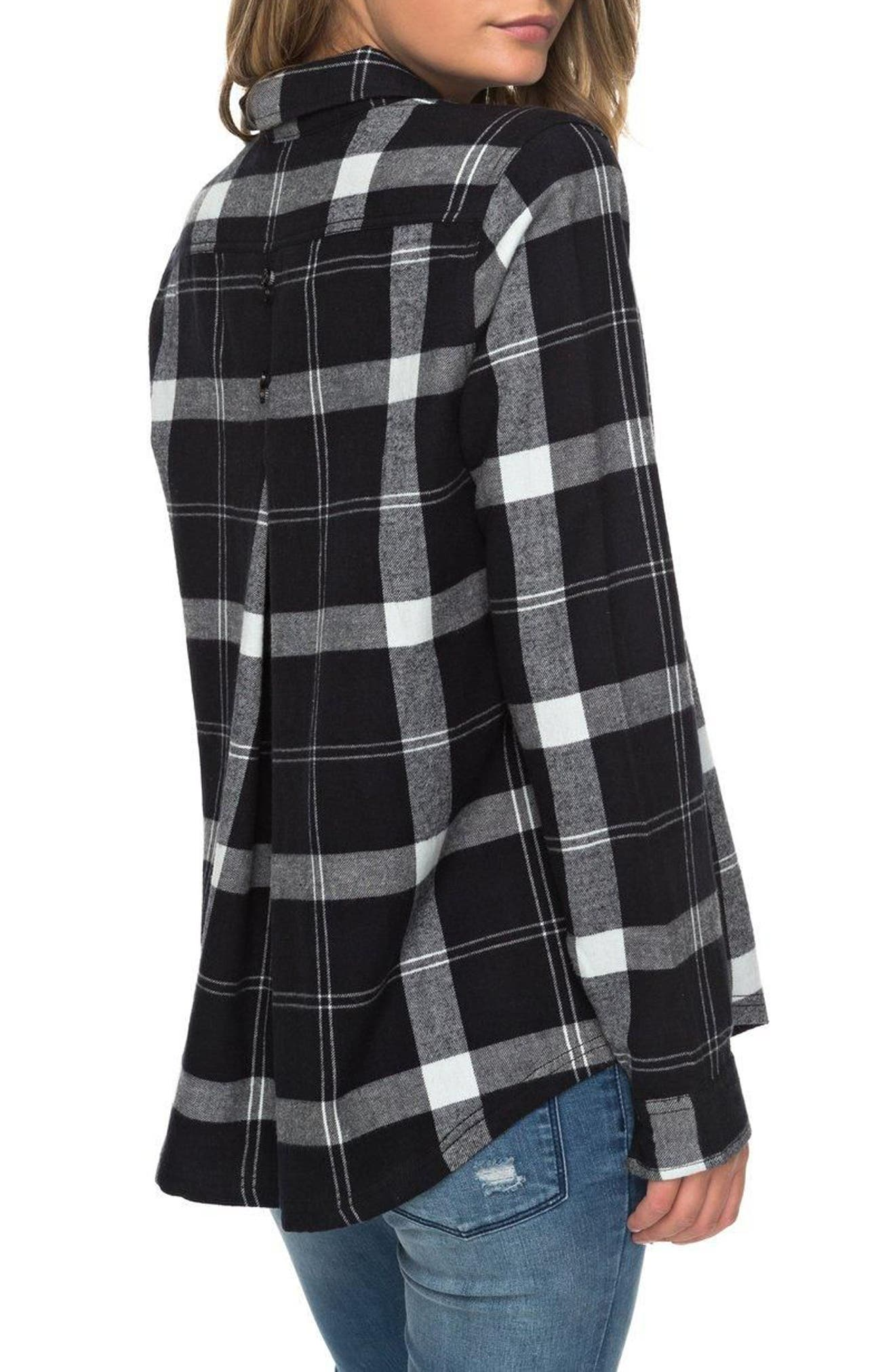 Heavy Feelings Plaid Cotton Shirt,                             Alternate thumbnail 3, color,                             Checked Plaid Combo Anthracite