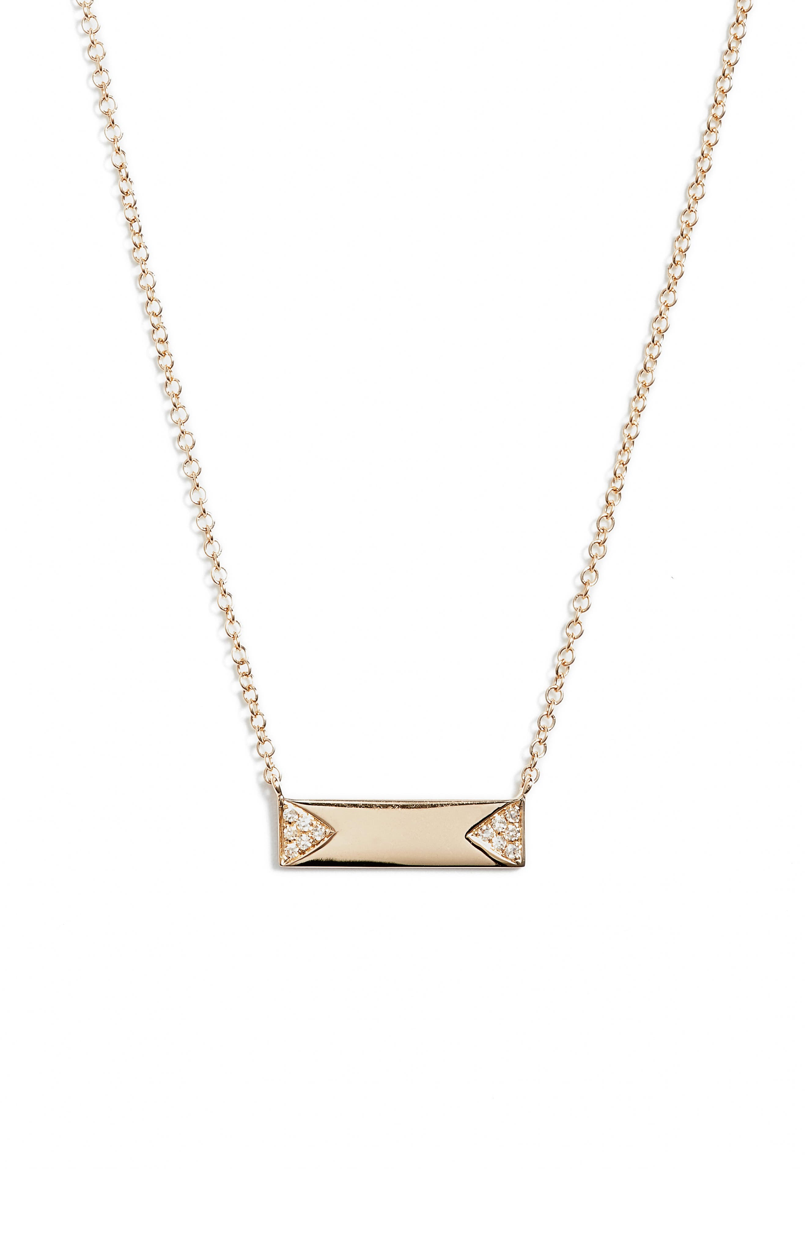 Alternate Image 1 Selected - EF COLLECTION Diamond ID Pendant Necklace