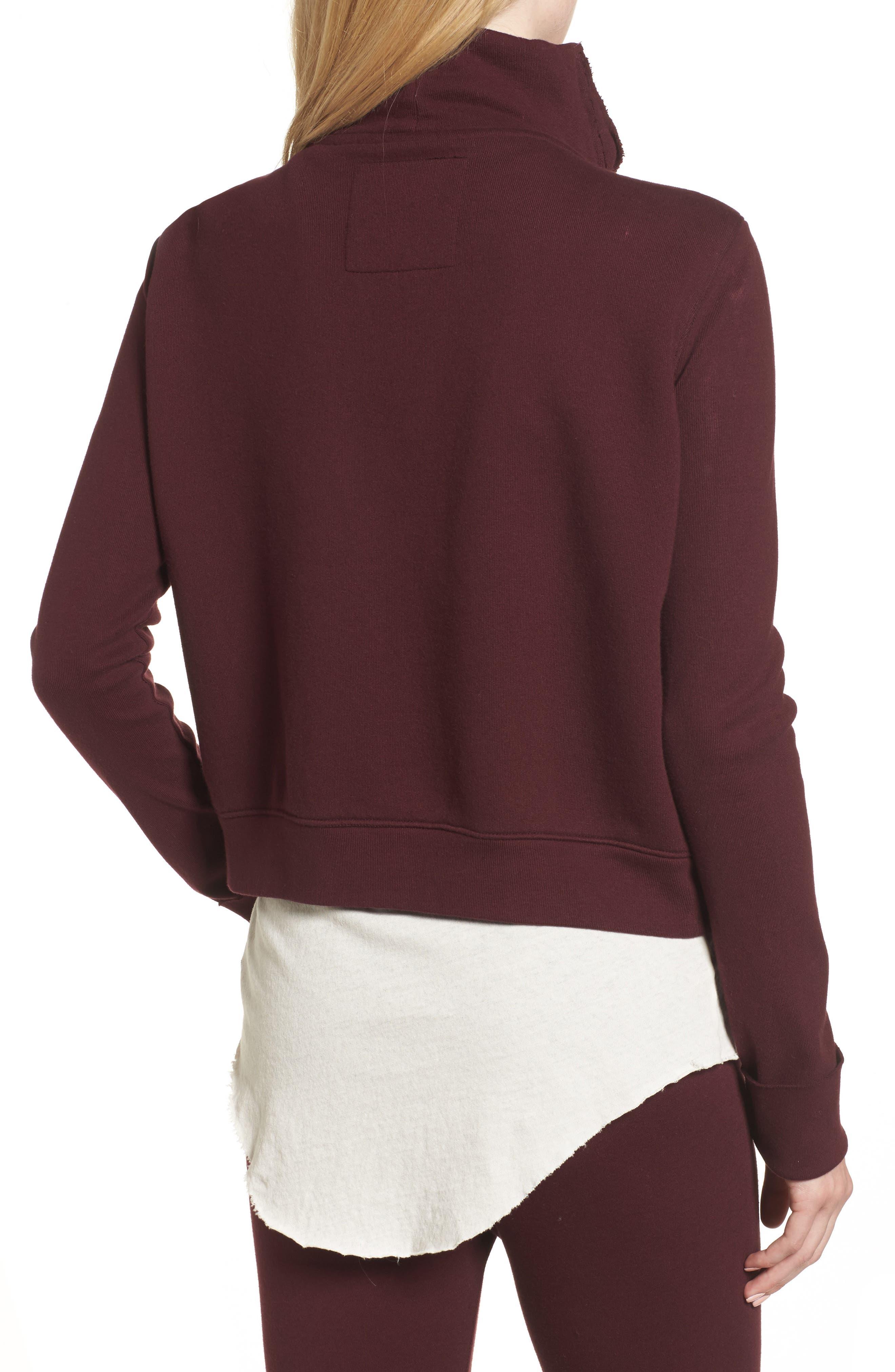 Zip Fleece Jacket,                             Alternate thumbnail 2, color,                             Vamp