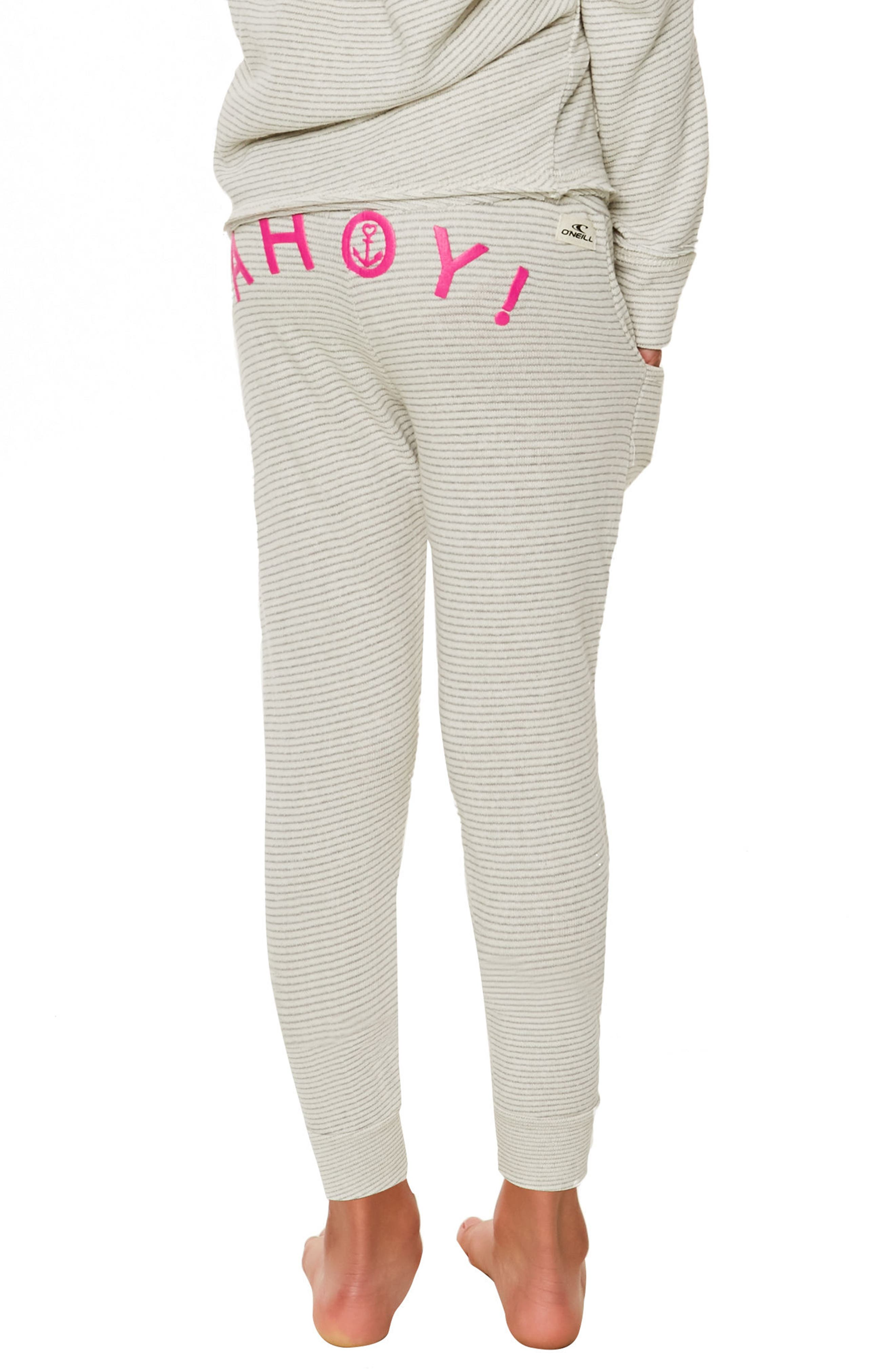 Shore Ahoy! French Terry Pants,                             Alternate thumbnail 5, color,                             Grey - Gry