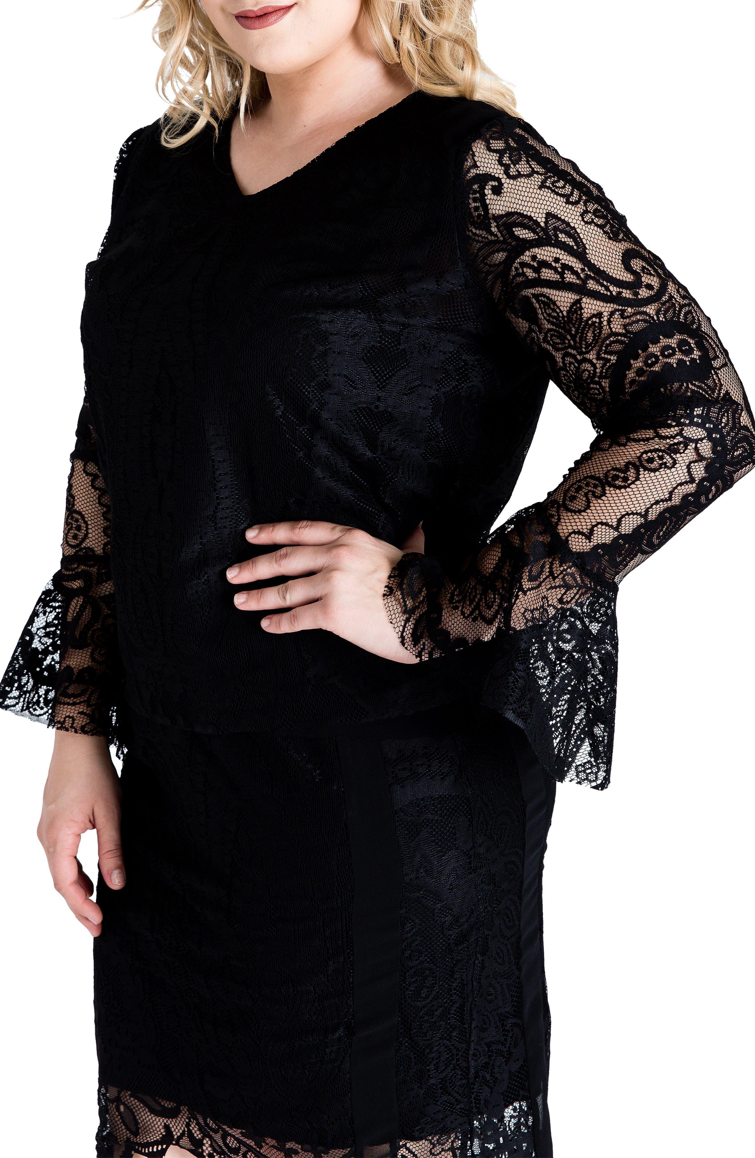 Standards & Practices Alison Boxy Lace Top (Plus Size)