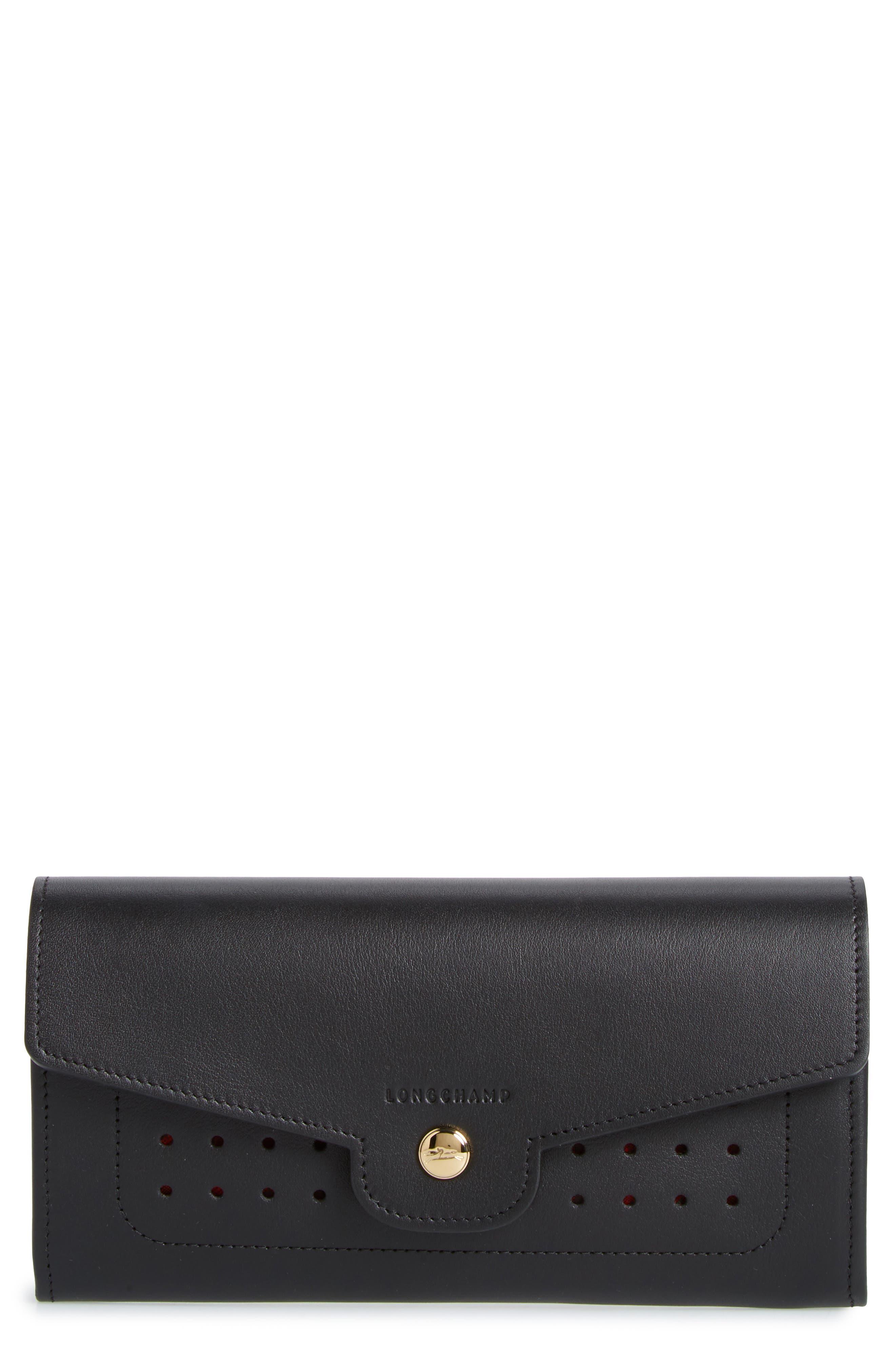 Longchamp Mademoiselle Calfskin Leather Wallet
