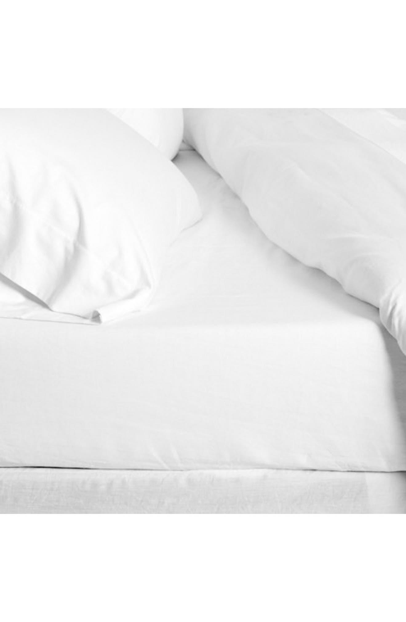 Linen Sheet Set,                         Main,                         color, White