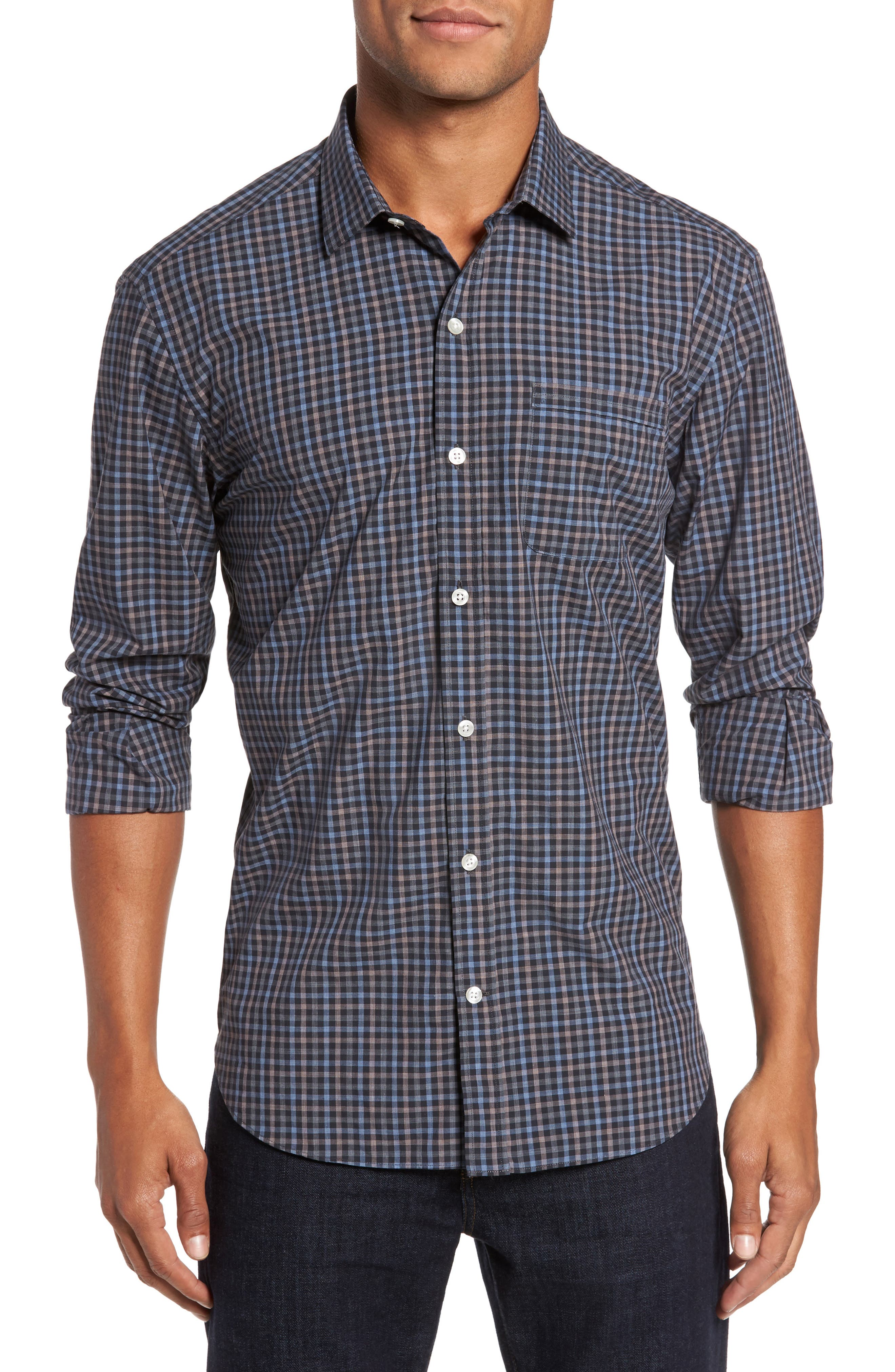 Alternate Image 1 Selected - Culturata Gingham Shadow Sport Shirt