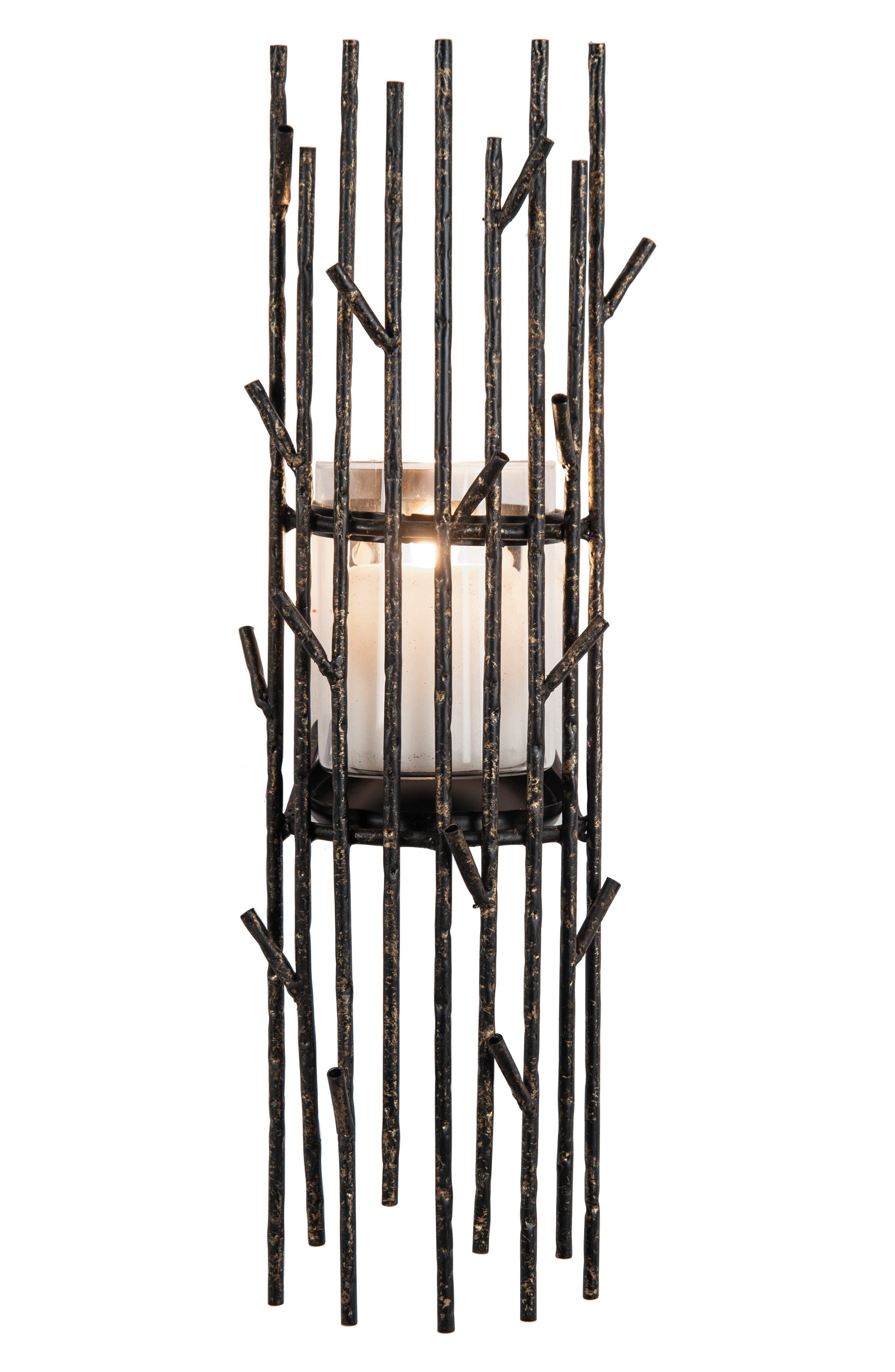 Twig Wall Candle Holder,                         Main,                         color, Metal/ Glass