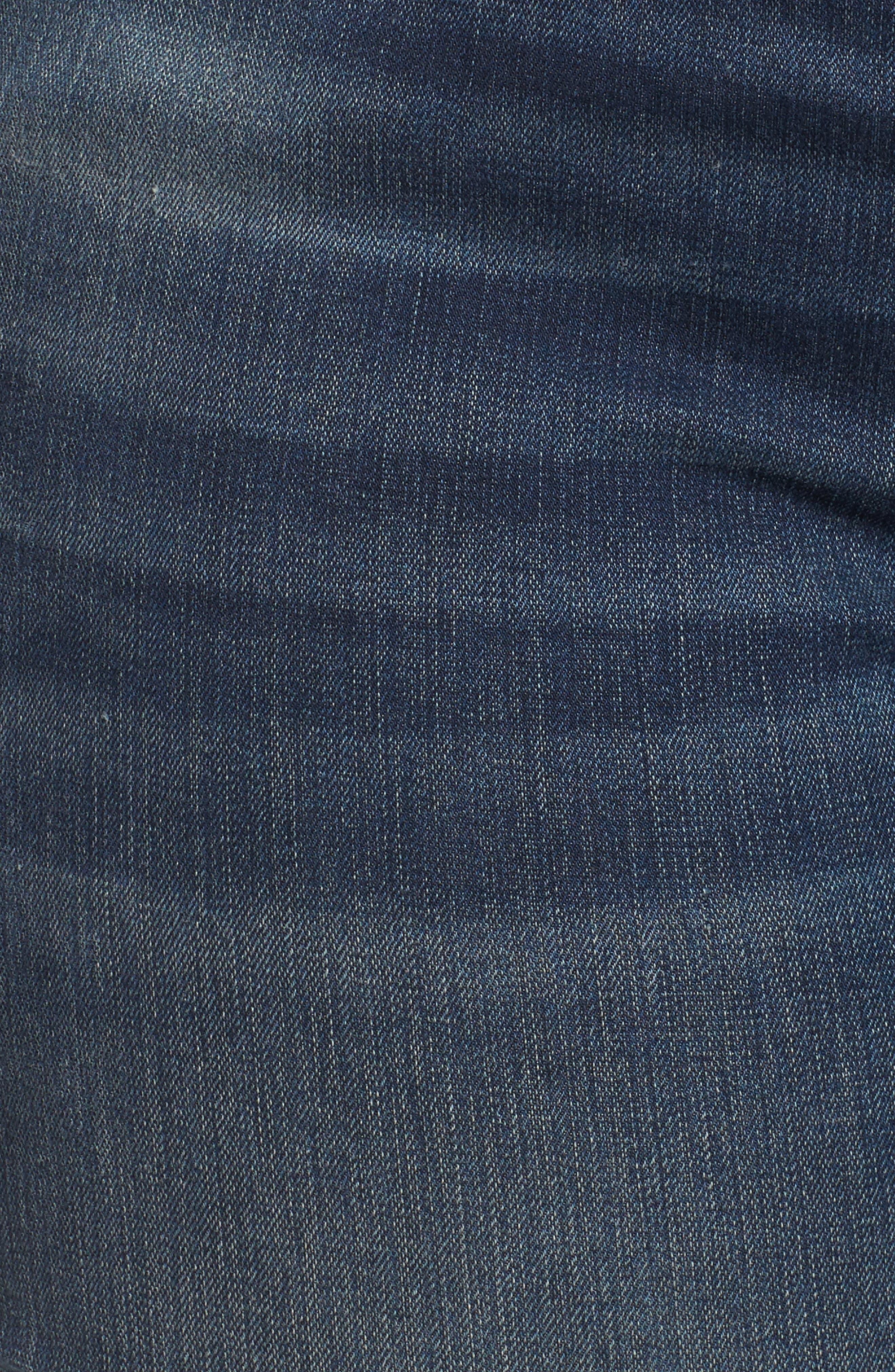 Alternate Image 5  - SLINK Jeans Step Hem Skinny Jeans (Danielle) (Plus Size)