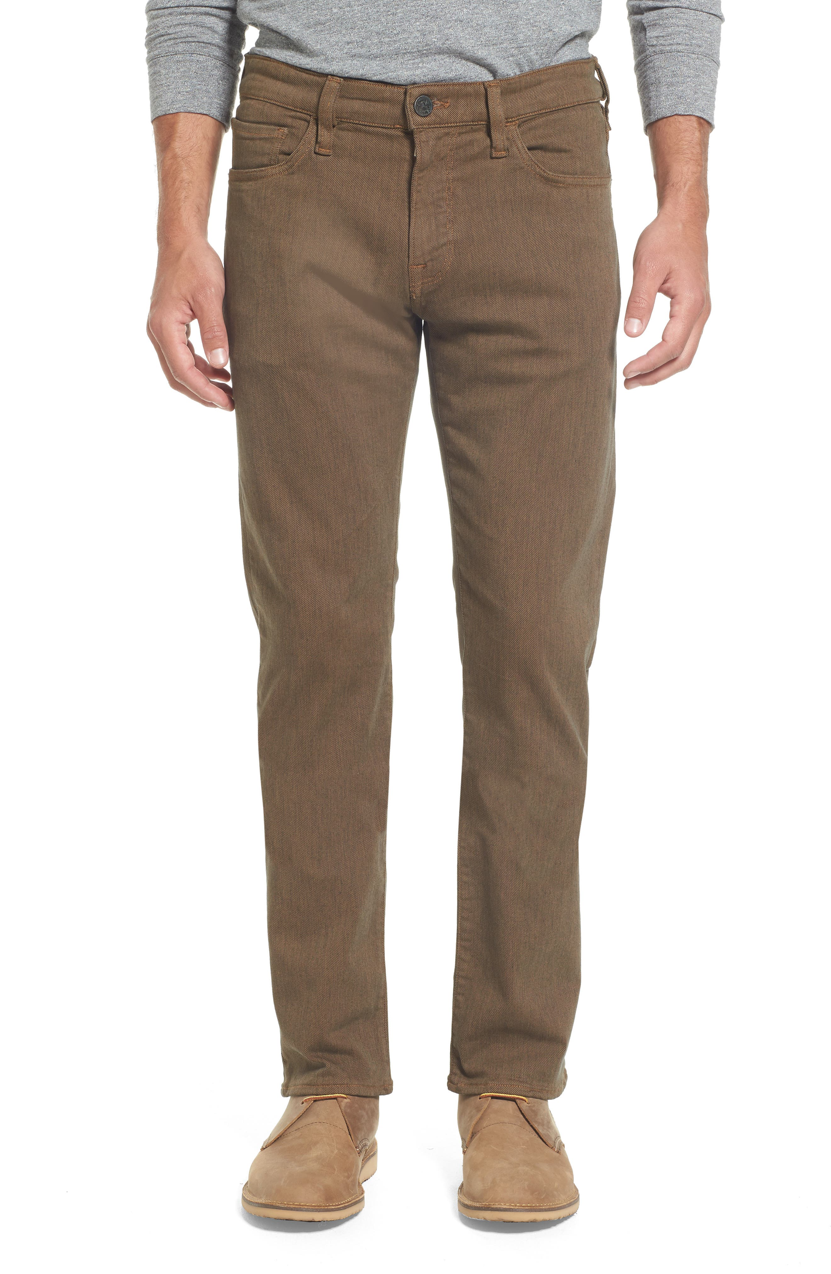 Heritage 34 Courage Straight Leg Jeans,                         Main,                         color, Rust Diagonal