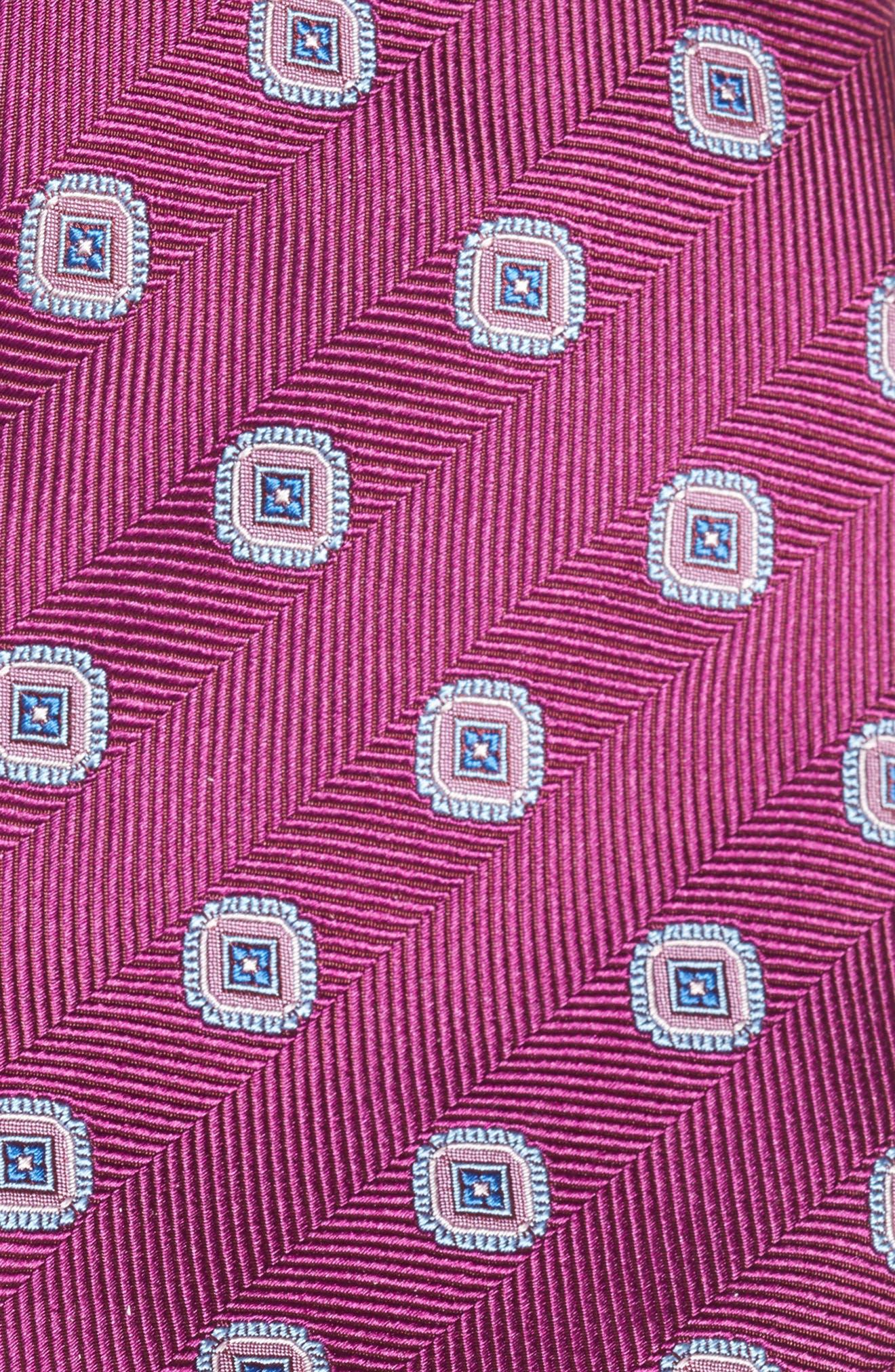 Alternate Image 2  - David Donahue Medallion Silk Tie