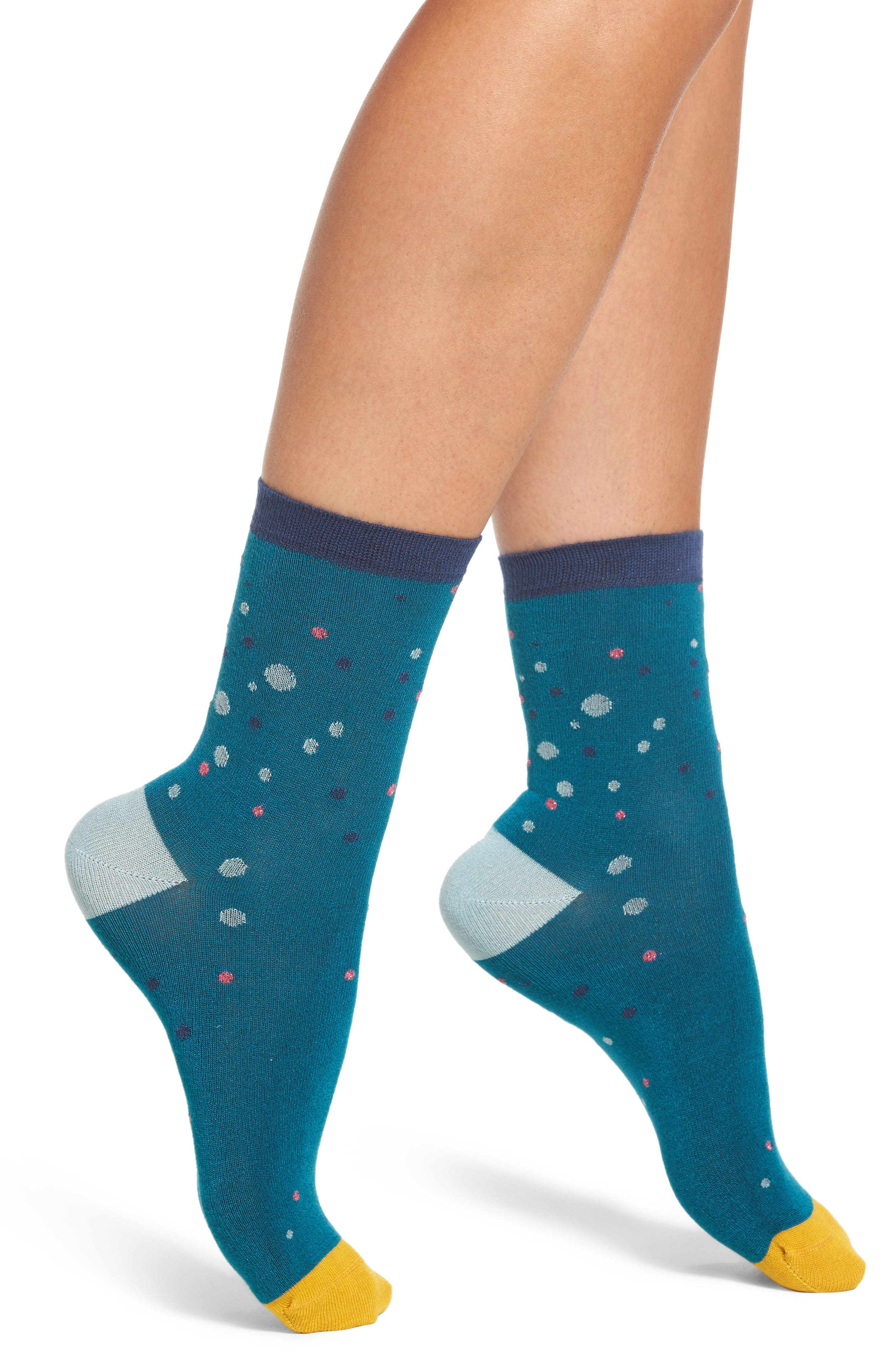 Poppy Socks,                         Main,                         color, Blue