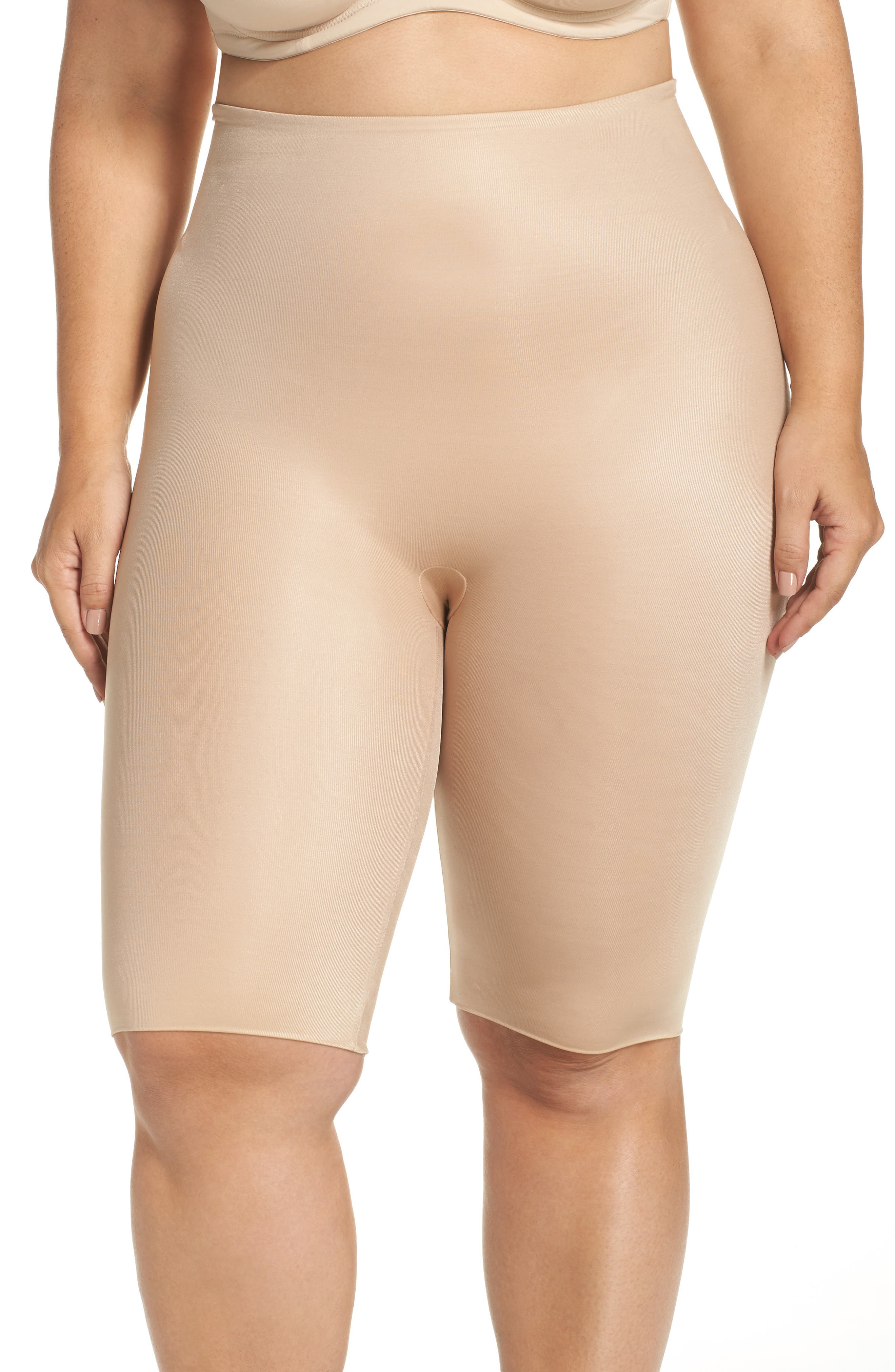 Power Conceal-Her Mid-Thigh Shorts,                         Main,                         color, Natural Glam