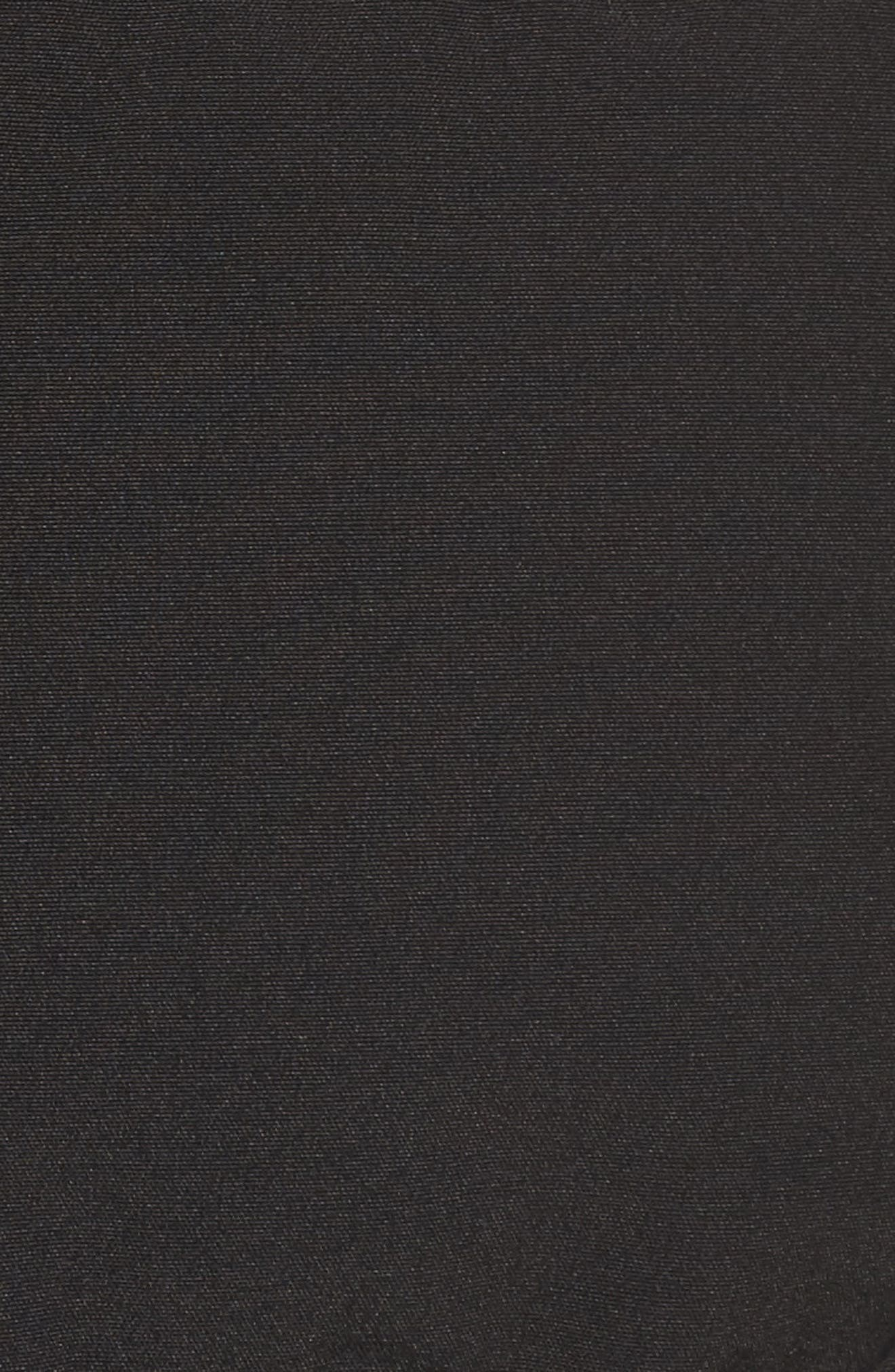 'Savona' Bomber Jacket with Genuine Coyote Fur Trim,                             Alternate thumbnail 6, color,                             Black
