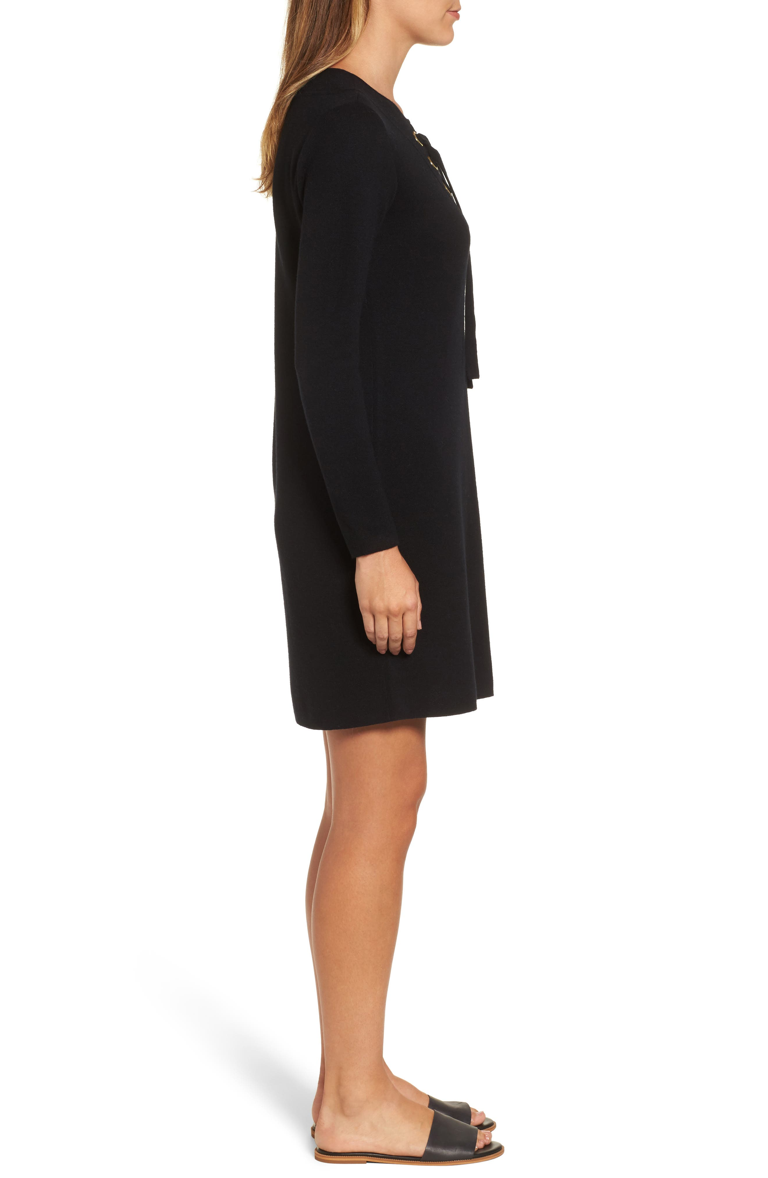 Alternate Image 3  - vineyard vines Lace-Up Sweater Dress