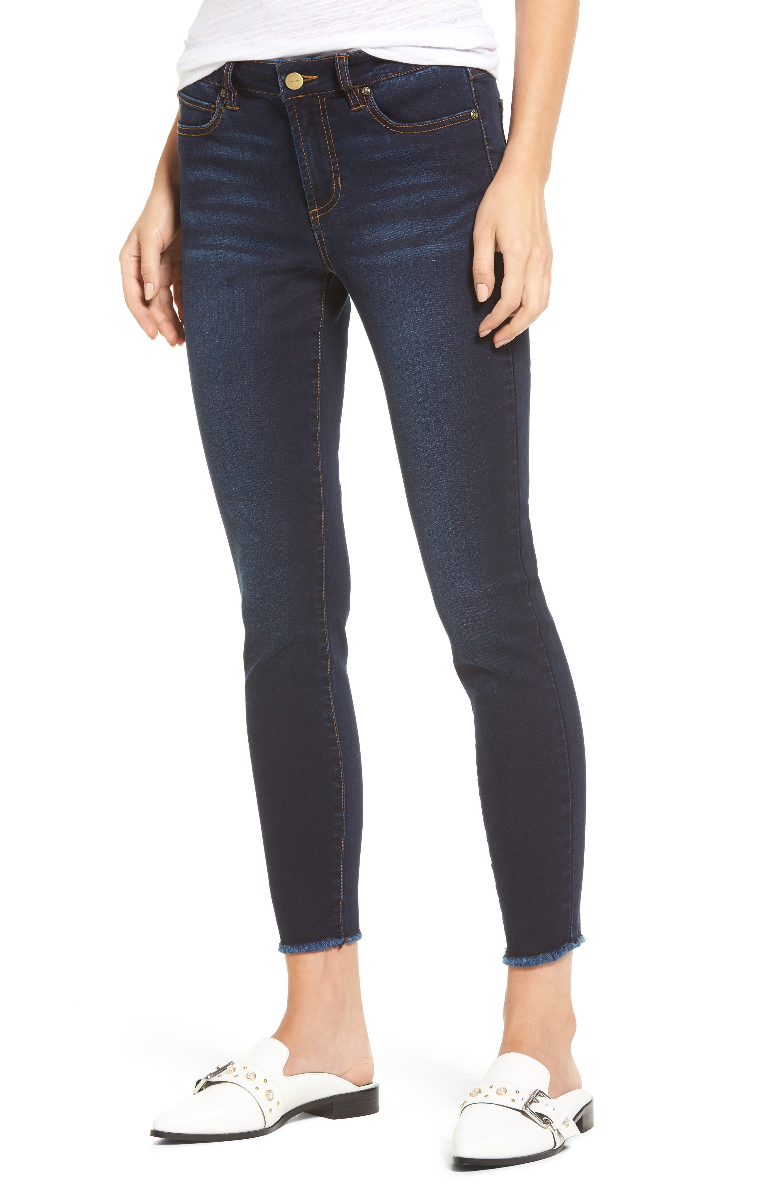 Main Image - Tinsel Ankle Skinny Jeans