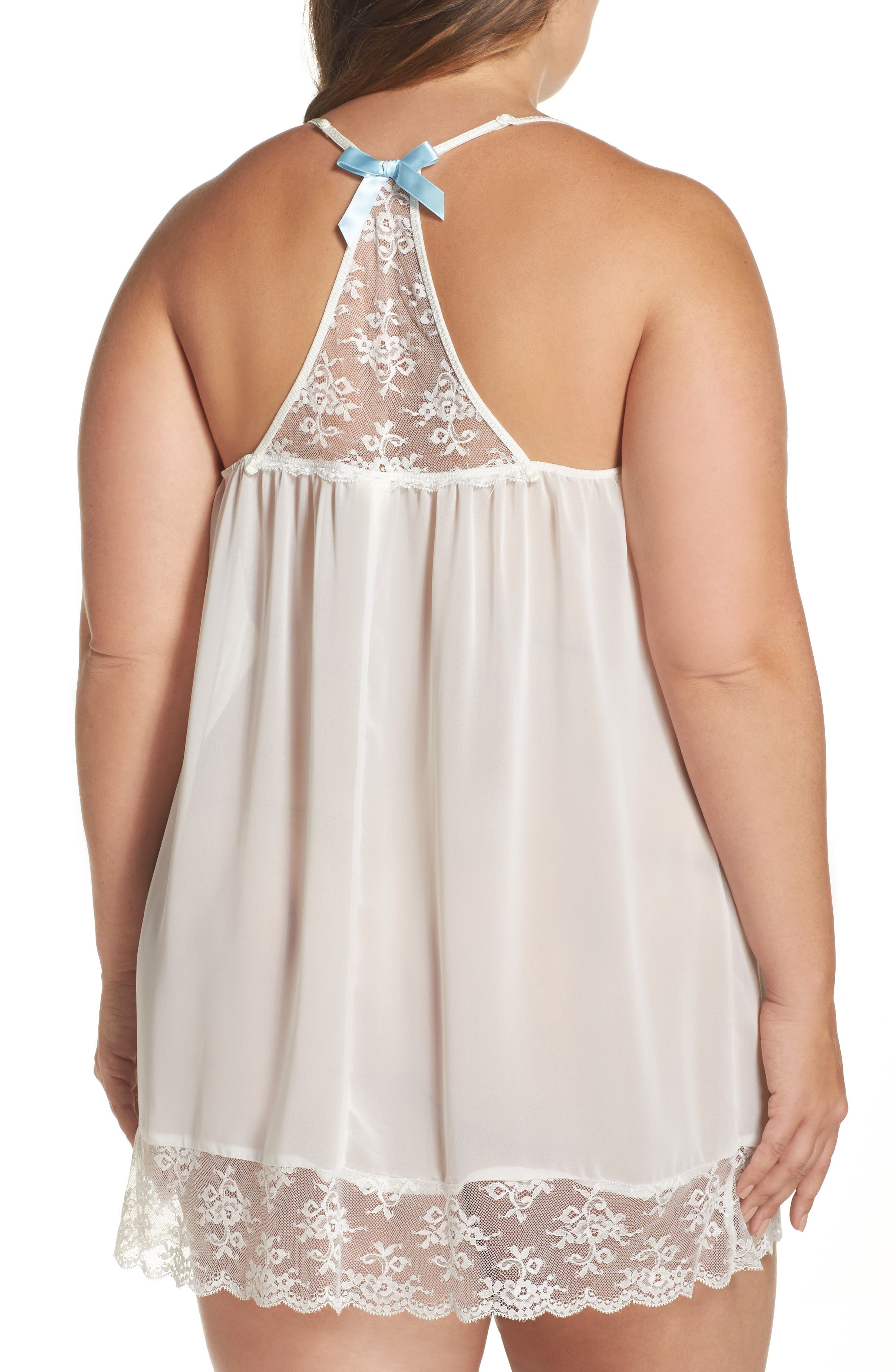 Chiffon Chemise,                             Alternate thumbnail 2, color,                             Ivory