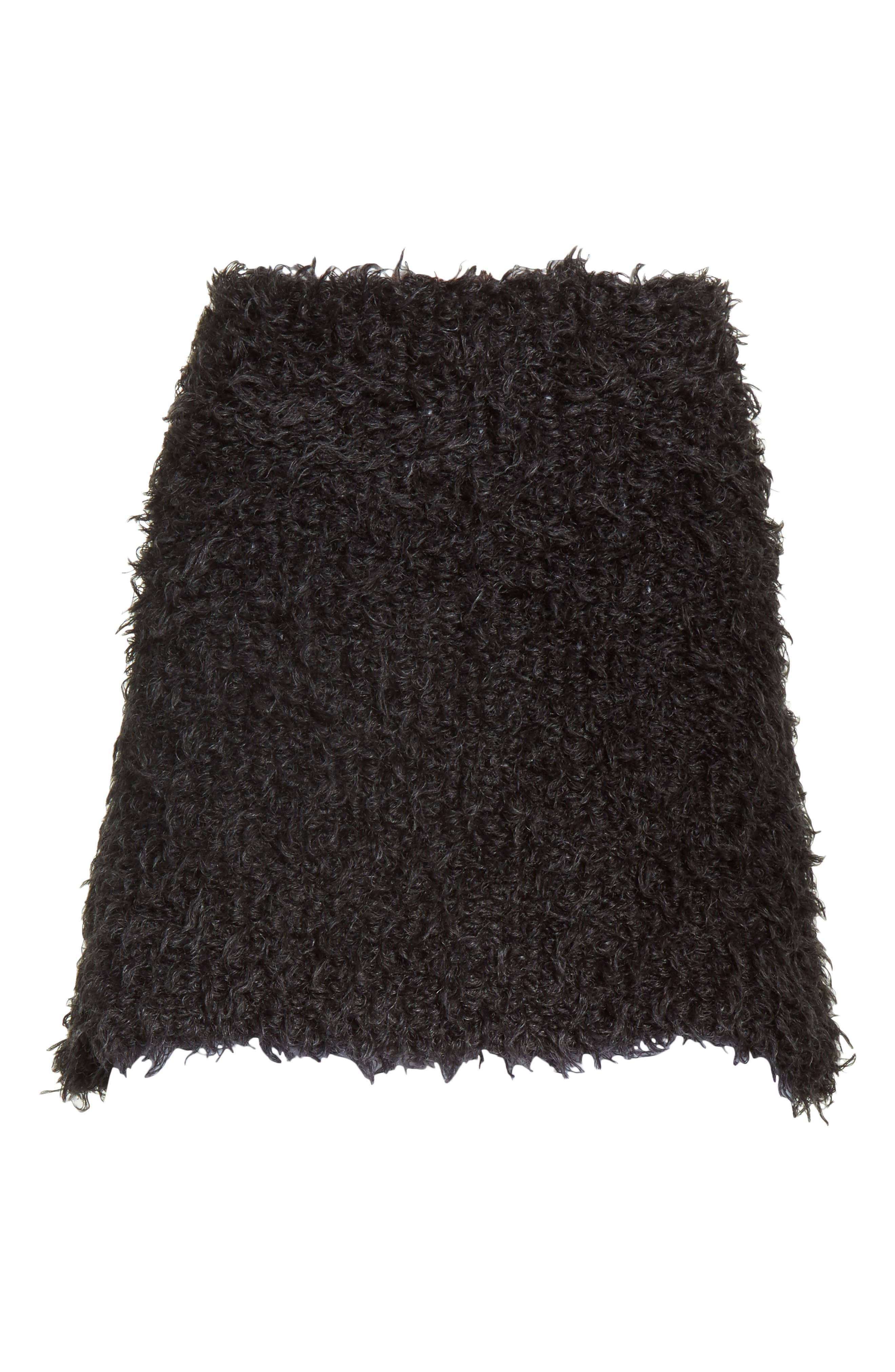 Fuzzy Miniskirt,                             Alternate thumbnail 7, color,                             Charcoal