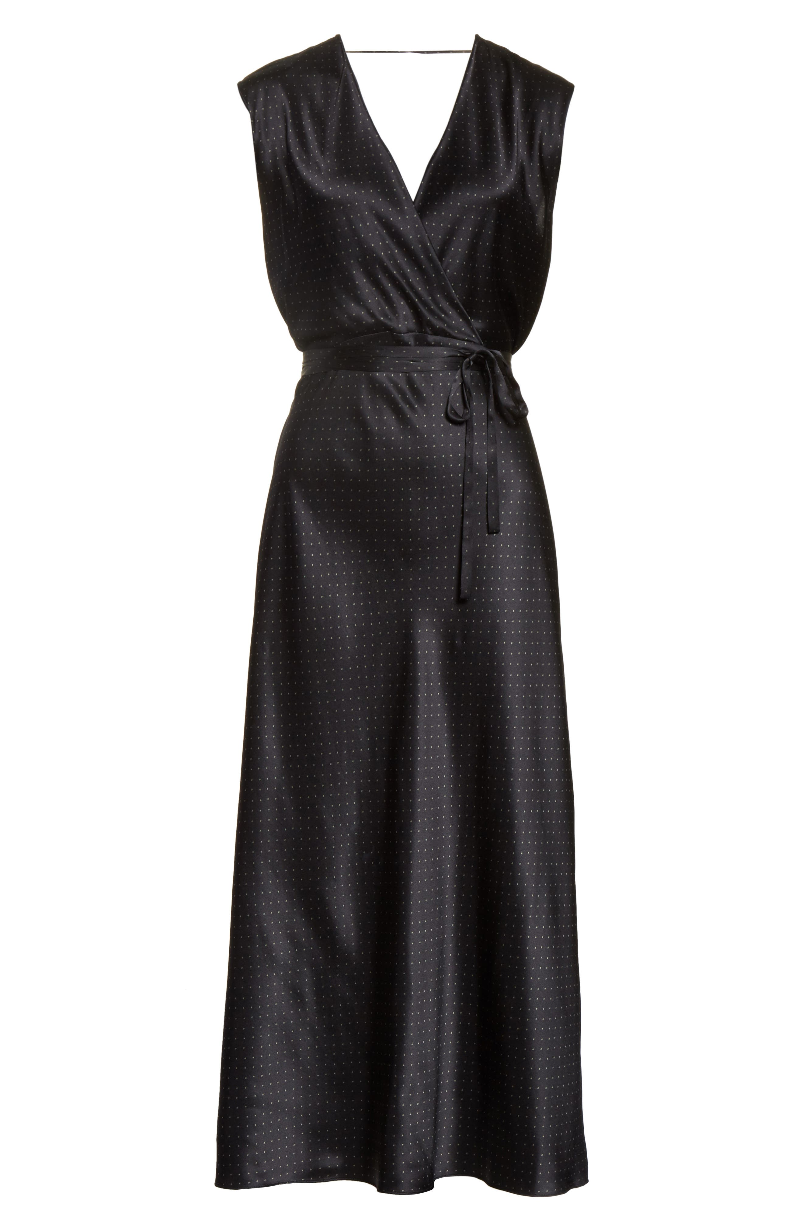 Alternate Image 6  - Vince Vintage Polka Dot Faux Wrap Silk Dress