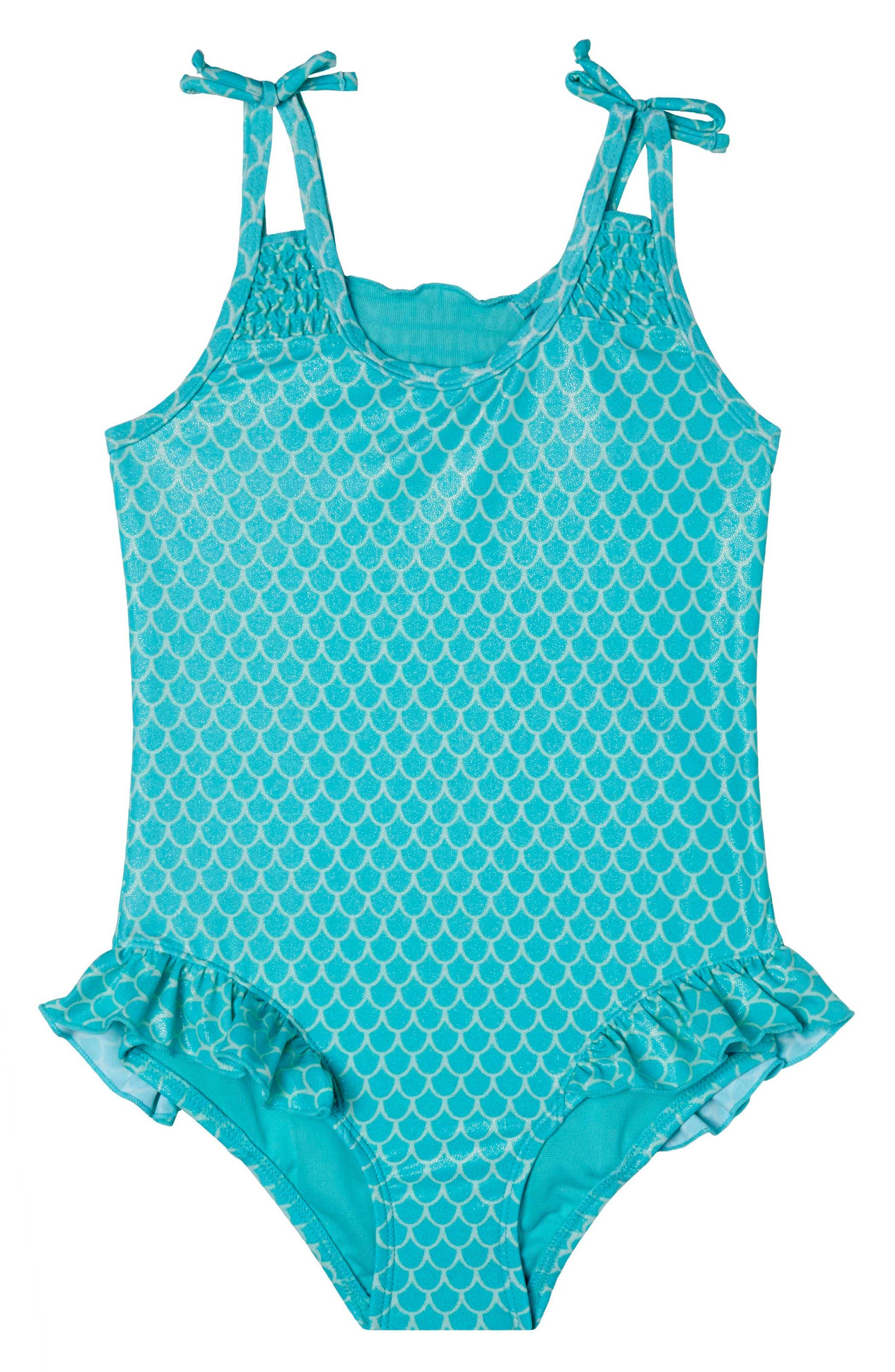 Alternate Image 1 Selected - Hula Star Mermaid Princess One-Piece Swimsuit (Toddler Girls & Little Girls)