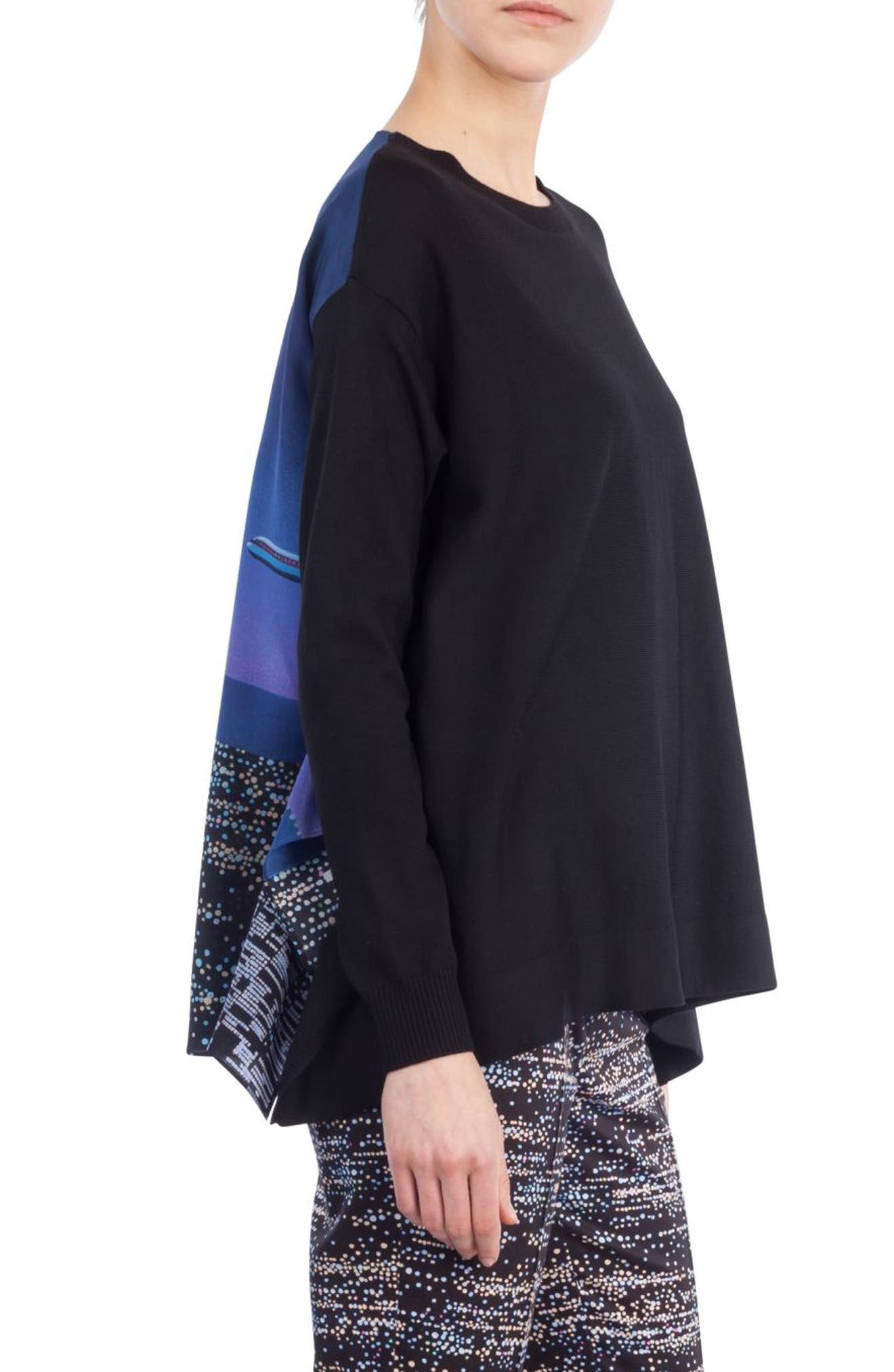 Alternate Image 3  - Akris punto Twilight Print Wool Pullover