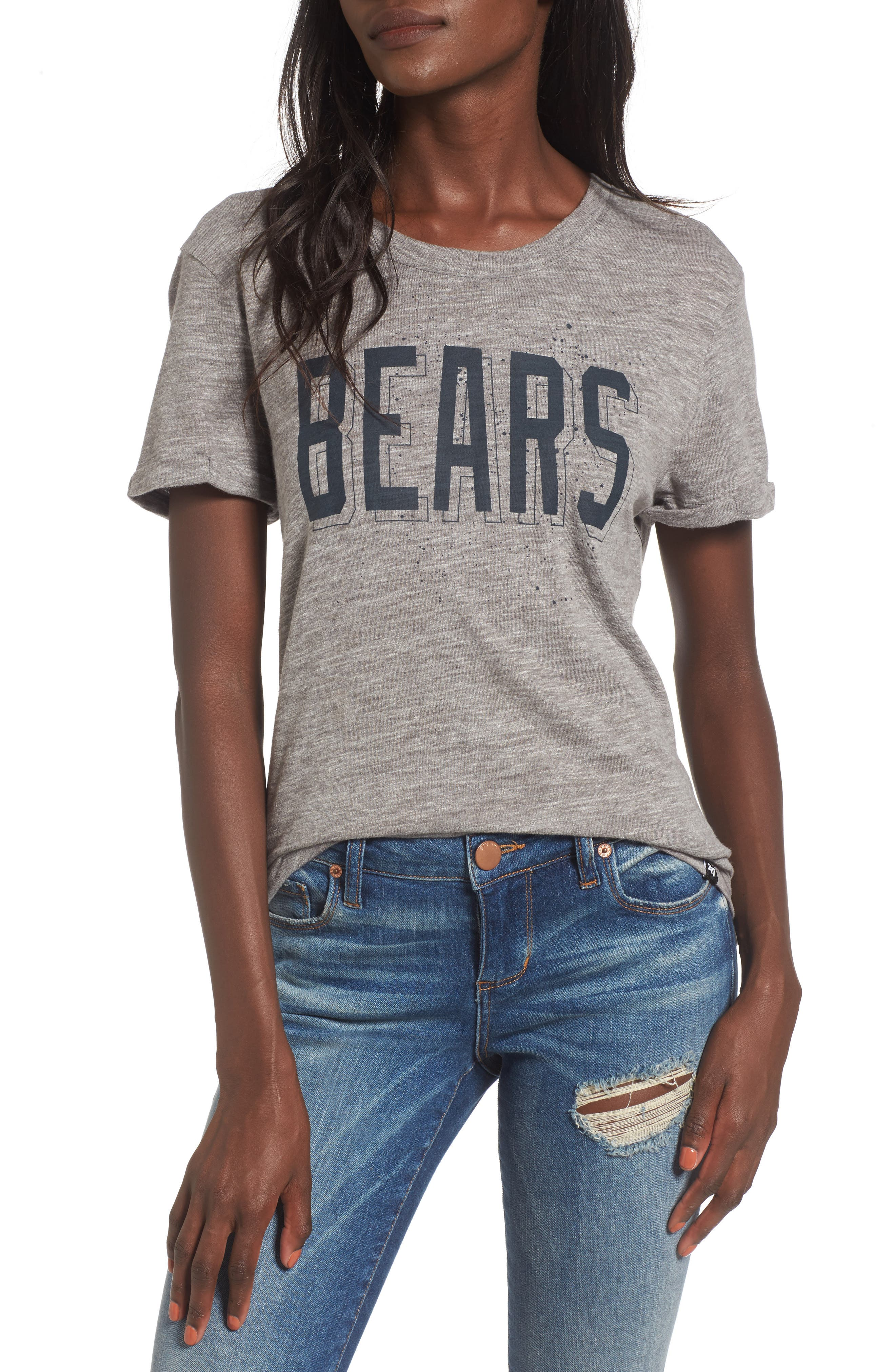 MVP Hero - Chicago Bears Tee,                         Main,                         color, Vintage Grey