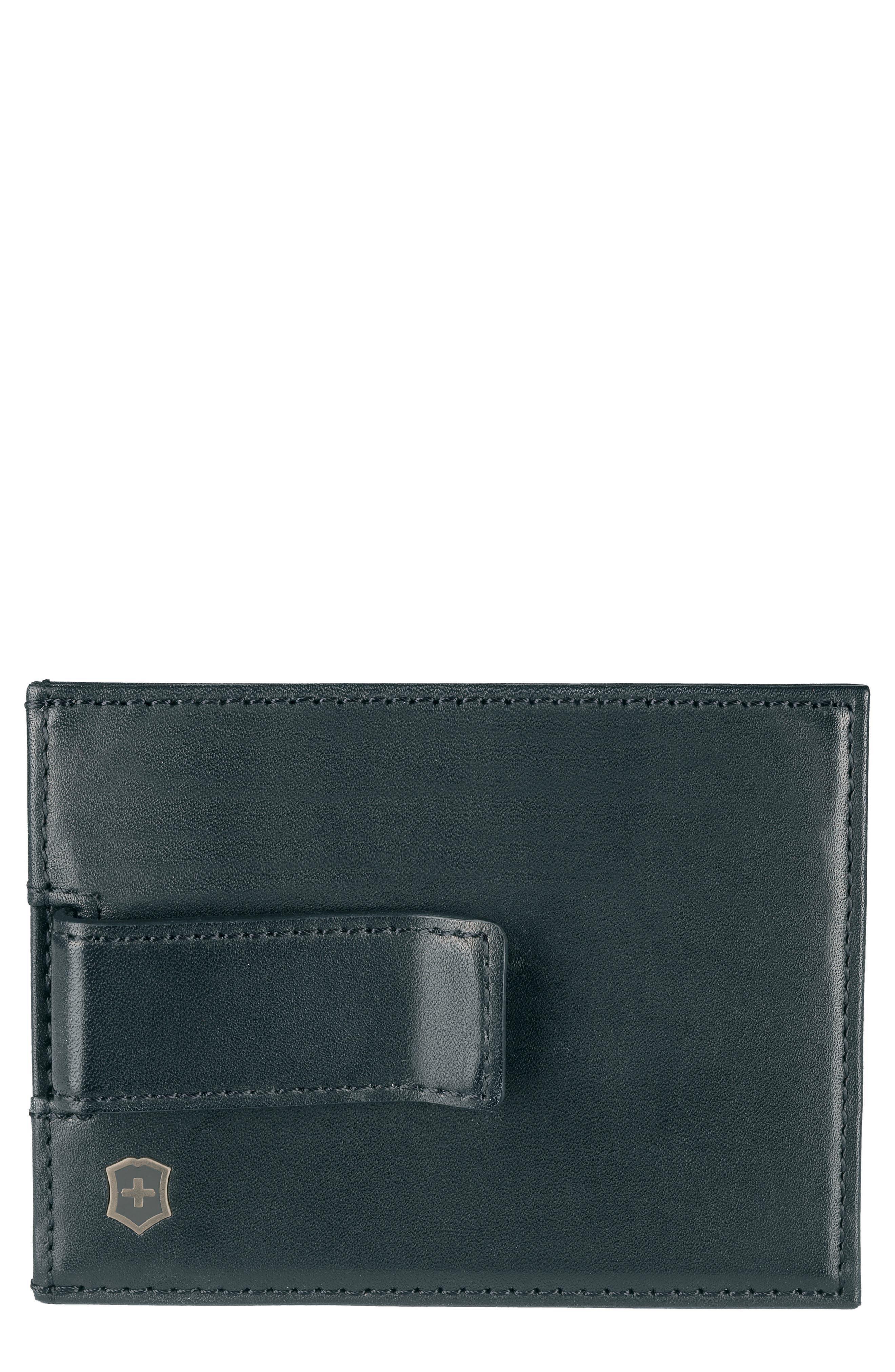 Altius Edge Napier Card Case,                         Main,                         color, Black