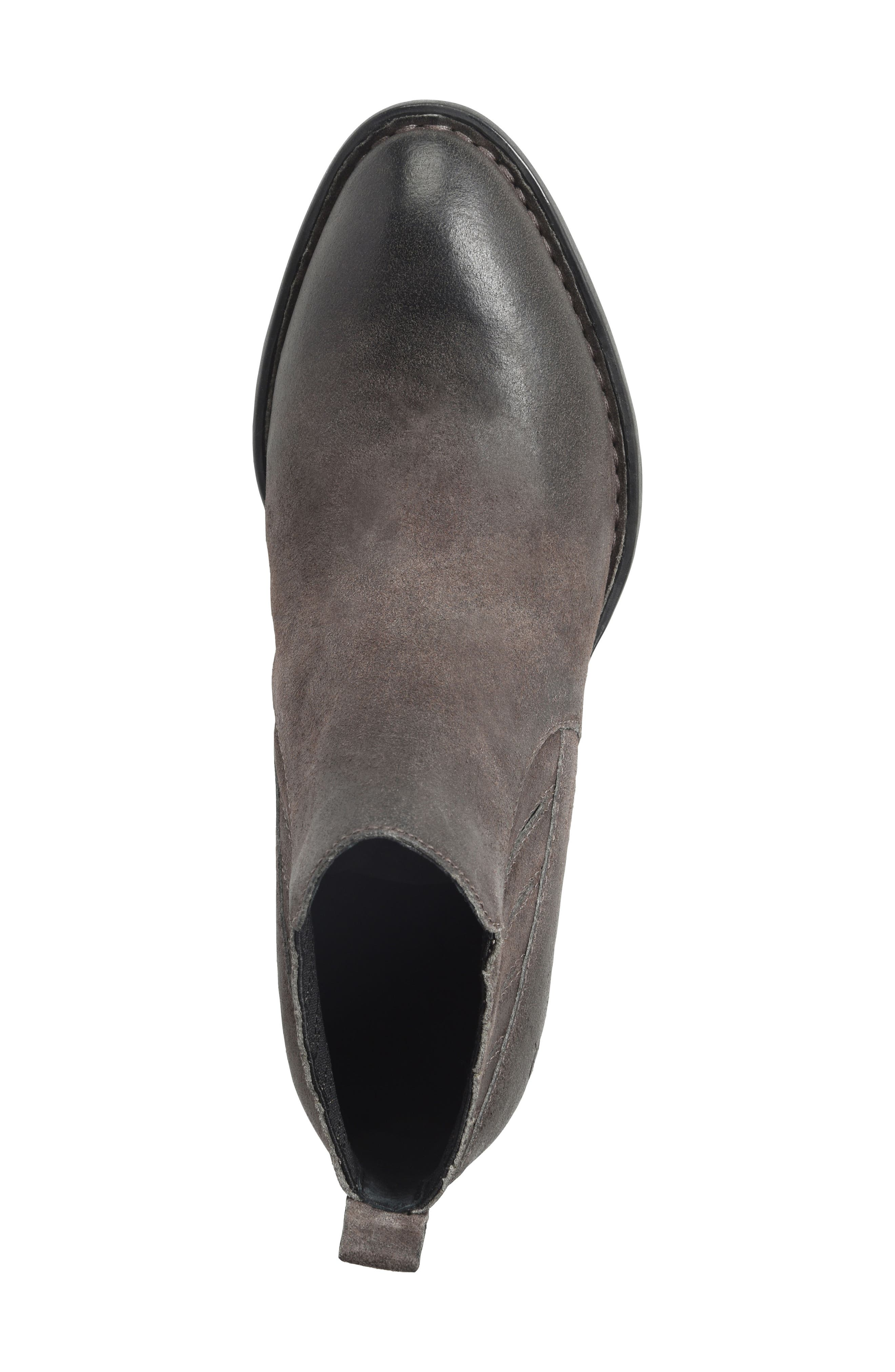 Beebe Bootie,                             Alternate thumbnail 5, color,                             Grey Distressed Leather