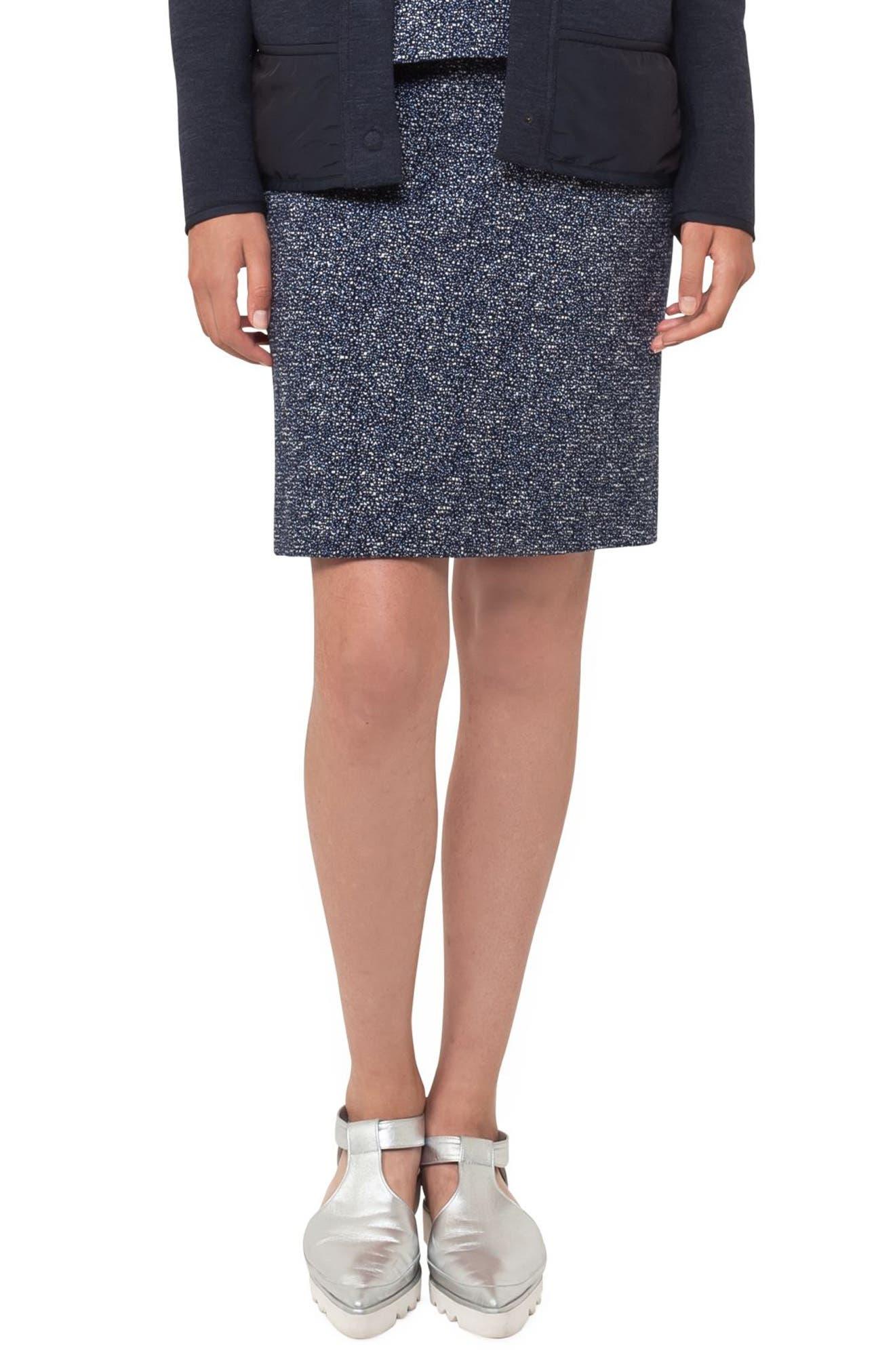 Main Image - Akris punto Jacquard Miniskirt