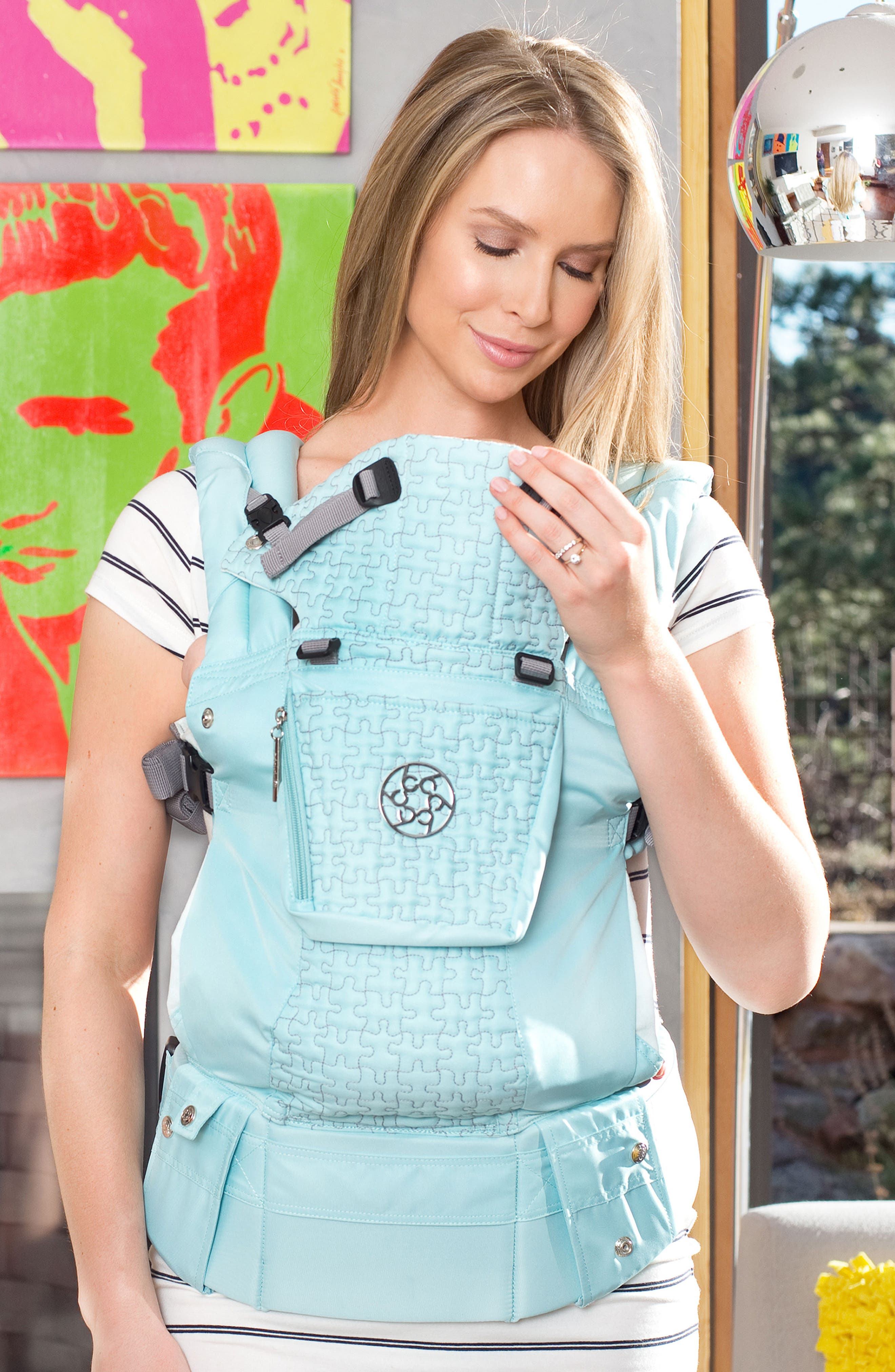 'Complete Embossed Luxe' Baby Carrier,                             Alternate thumbnail 3, color,                             Green