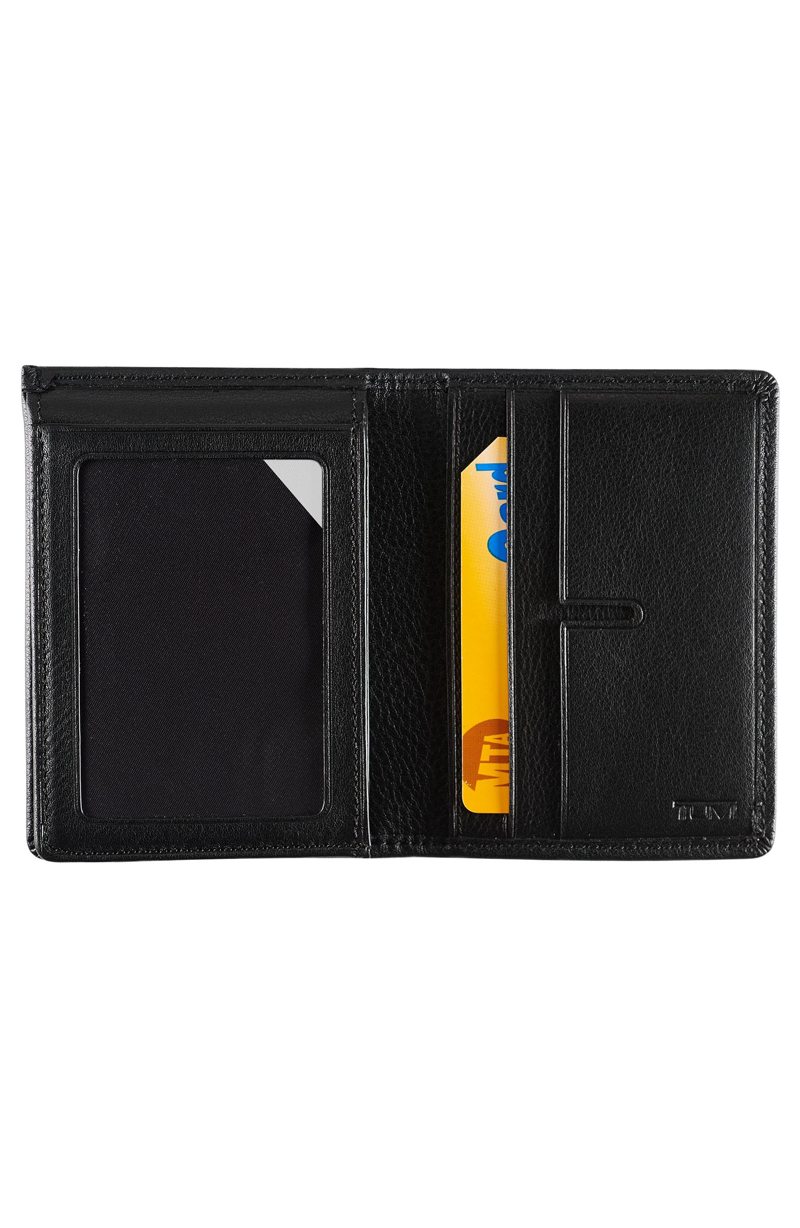 Leather L-Fold Wallet,                             Alternate thumbnail 2, color,                             Black Textured