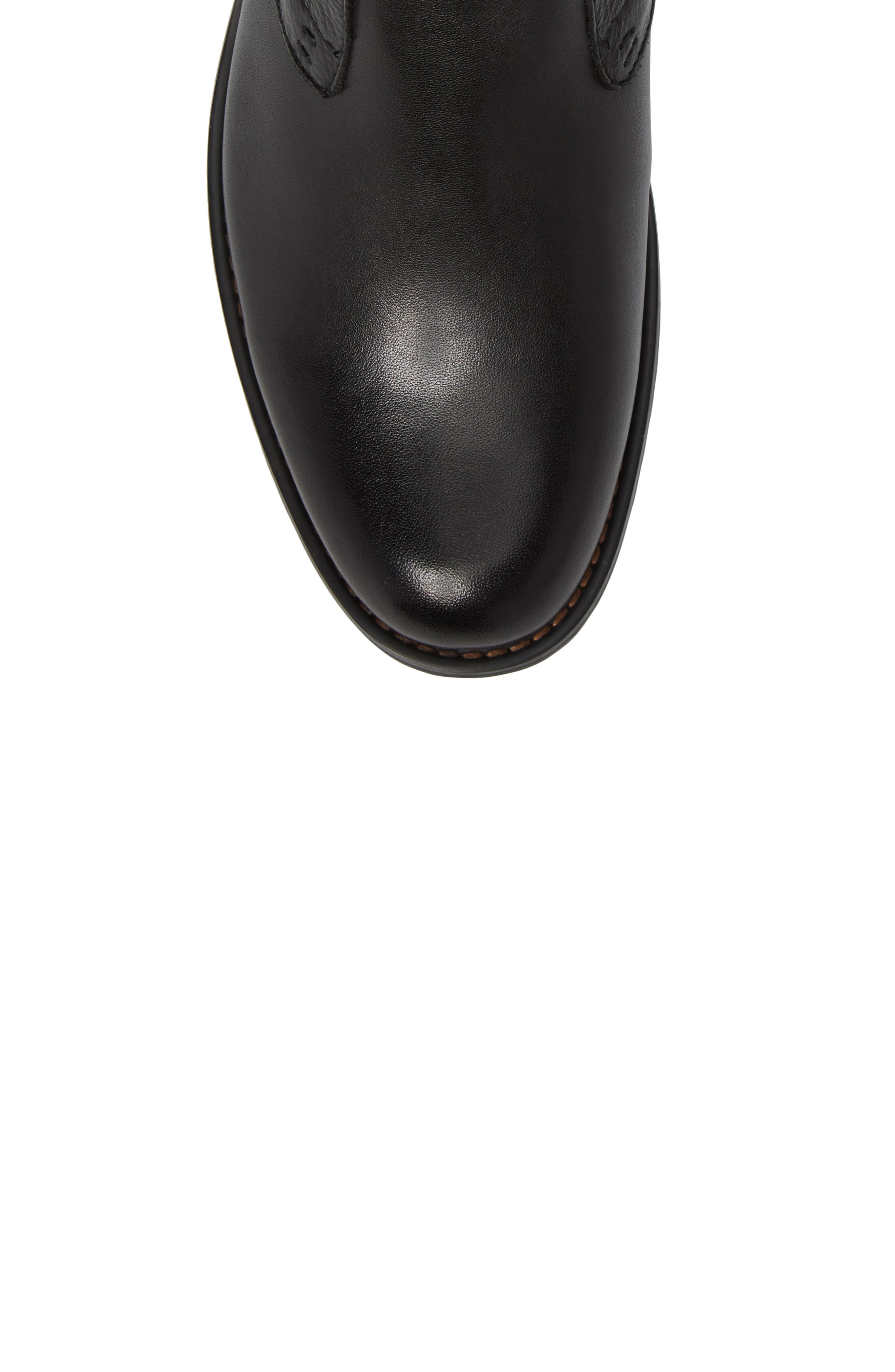 Oaks Chelsea Boot,                             Alternate thumbnail 5, color,                             Black Leather