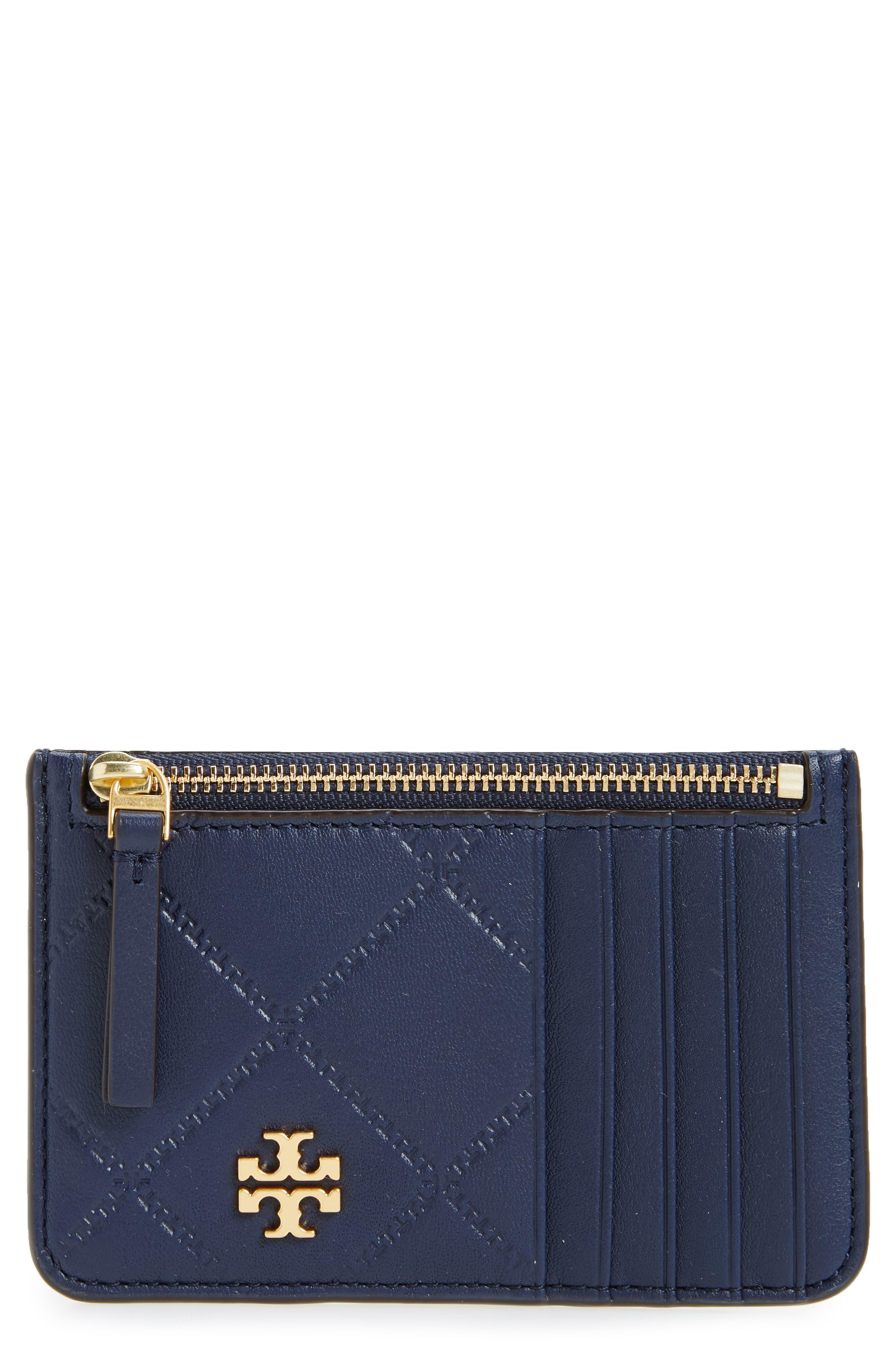 Georgia Leather Card Case,                         Main,                         color, Royal Navy