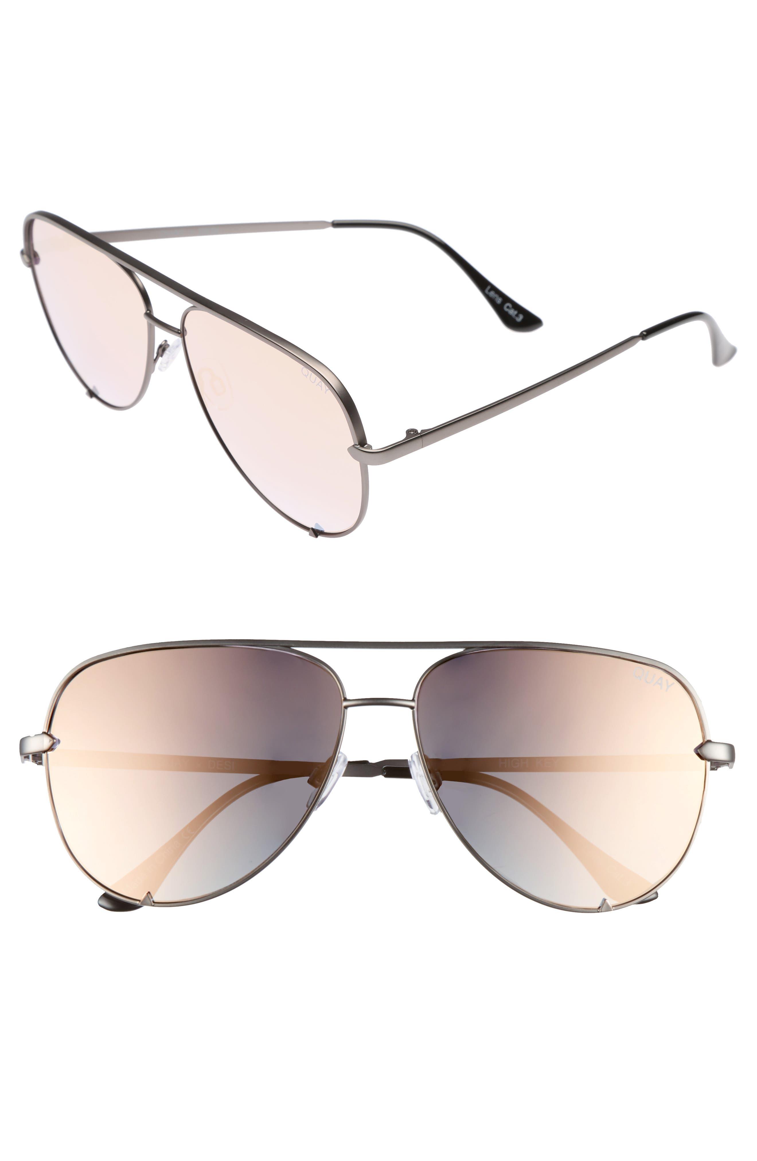 Quay Australia x Desi Perkins High Key 60mm Aviator Sunglasses