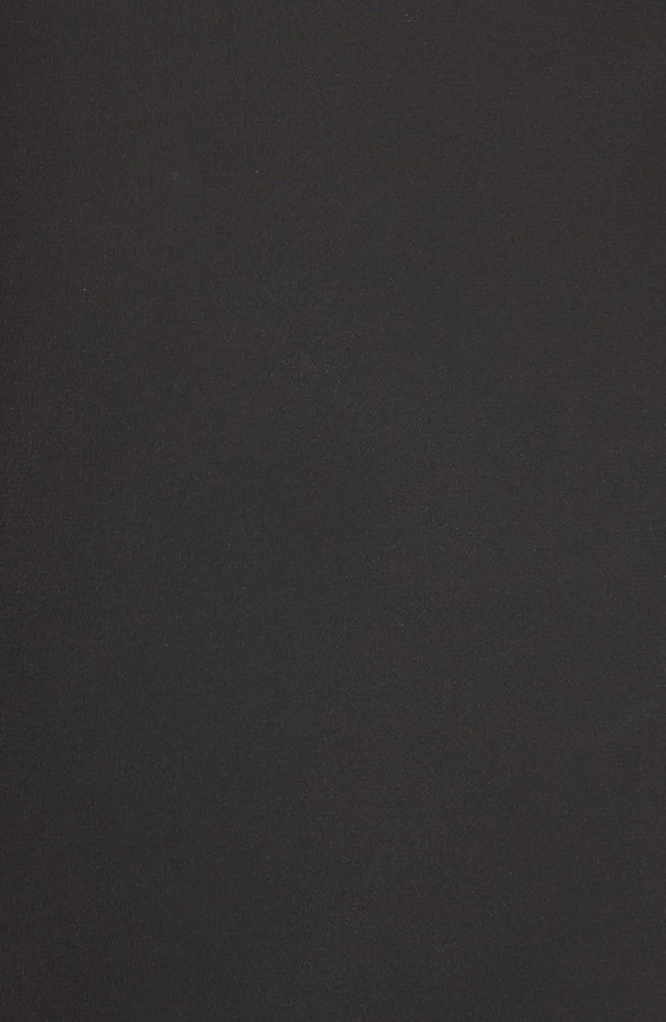 Tulle Lined Minidress,                             Alternate thumbnail 6, color,                             Black