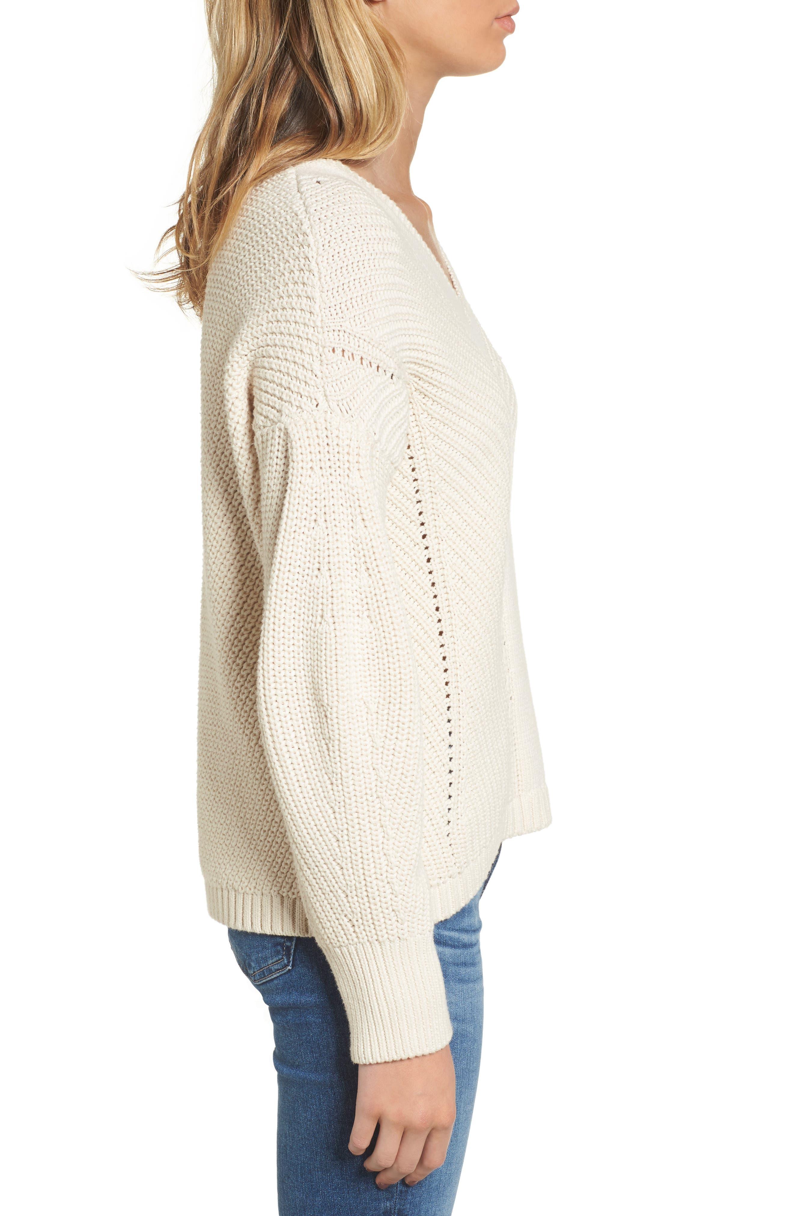 Millie Mozart Sweater,                             Alternate thumbnail 3, color,                             Classic Cream