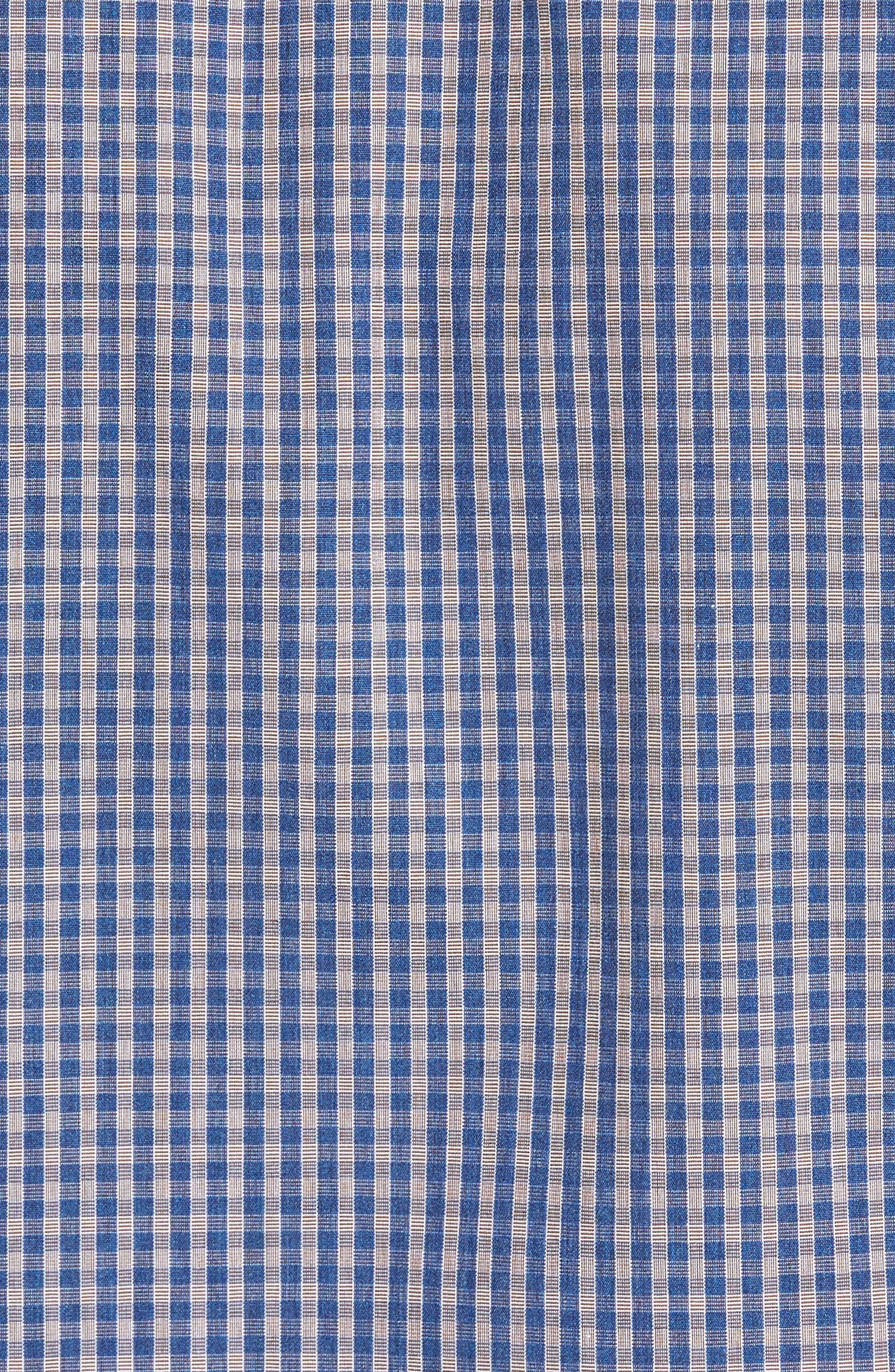 Regular Fit Check Sport Shirt,                             Alternate thumbnail 5, color,                             Navy/ Chocolate