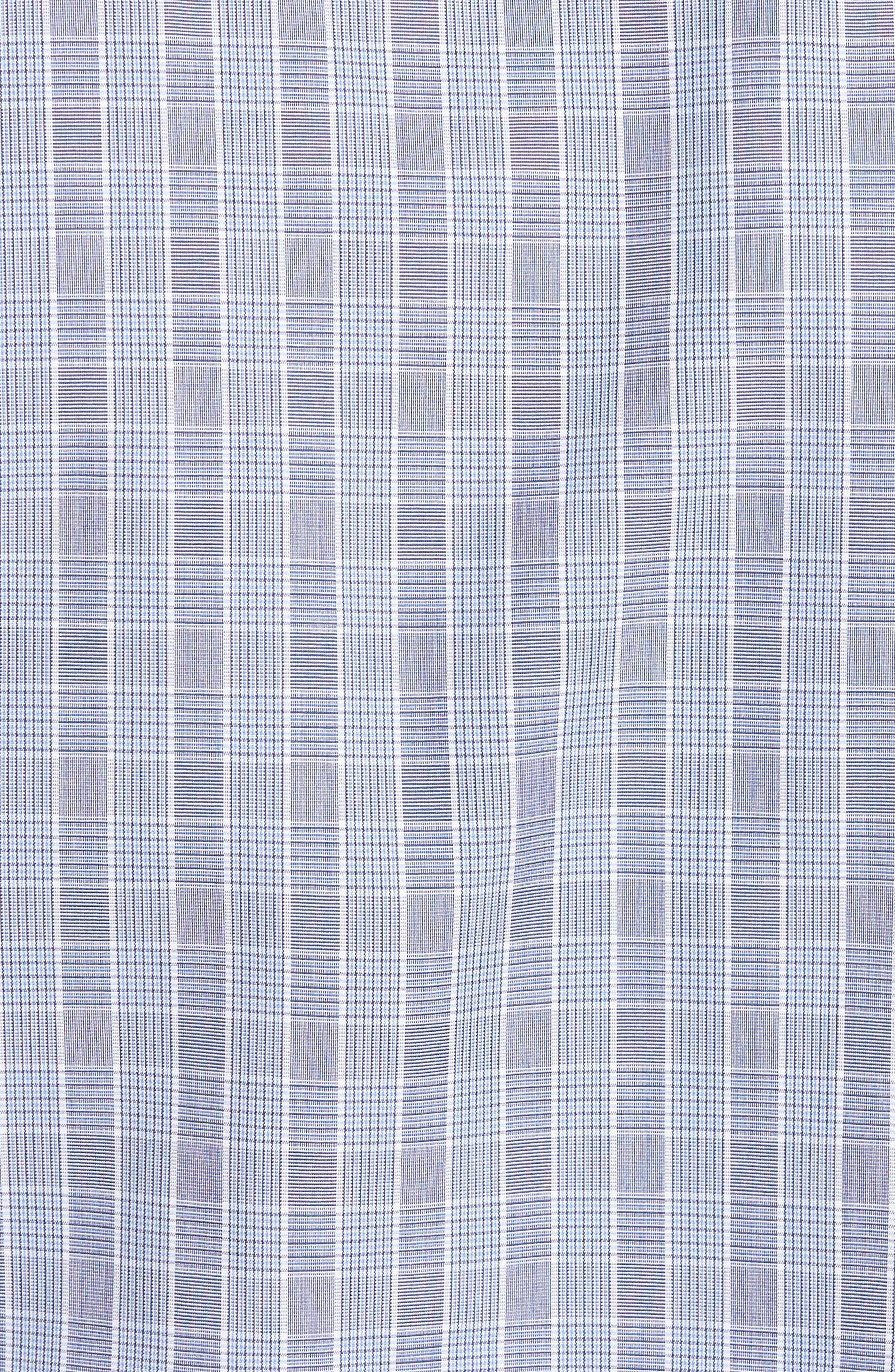 Regular Fit Plaid Sport Shirt,                             Alternate thumbnail 5, color,                             Navy/ Sky